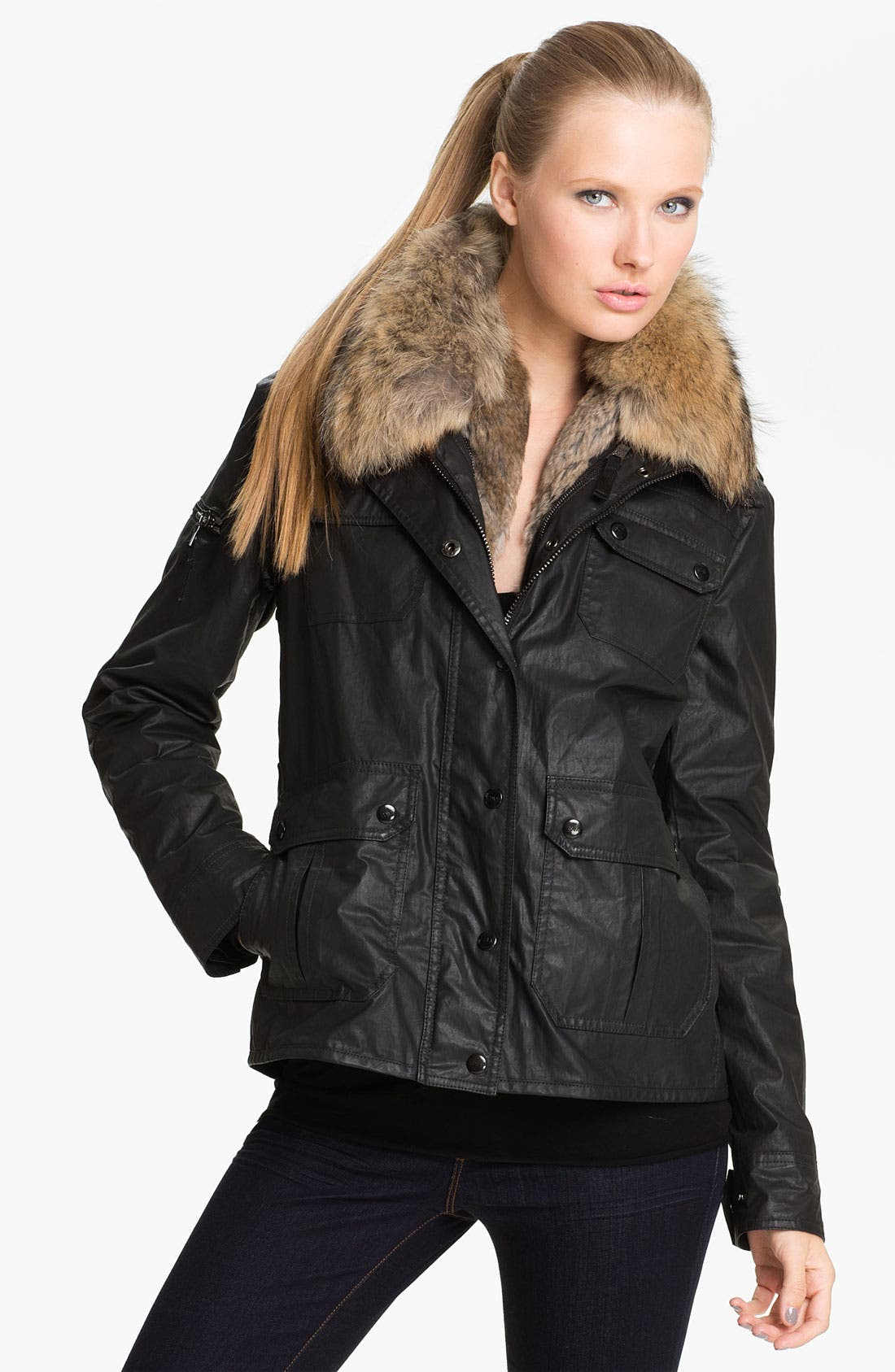 Main Image - SAM Field Jacket with Detachable Fur Liner