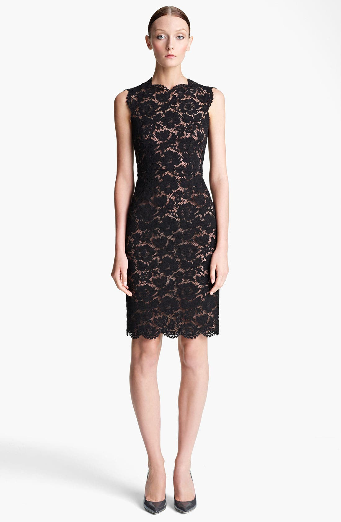 Alternate Image 1 Selected - Valentino Lace Sheath Dress