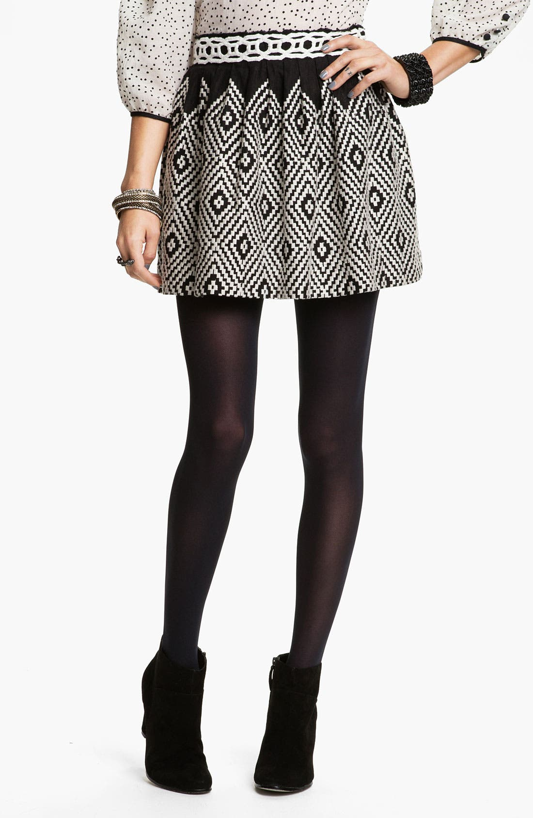 Main Image - Free People 'Alexus' Op Art Embroidered Skirt