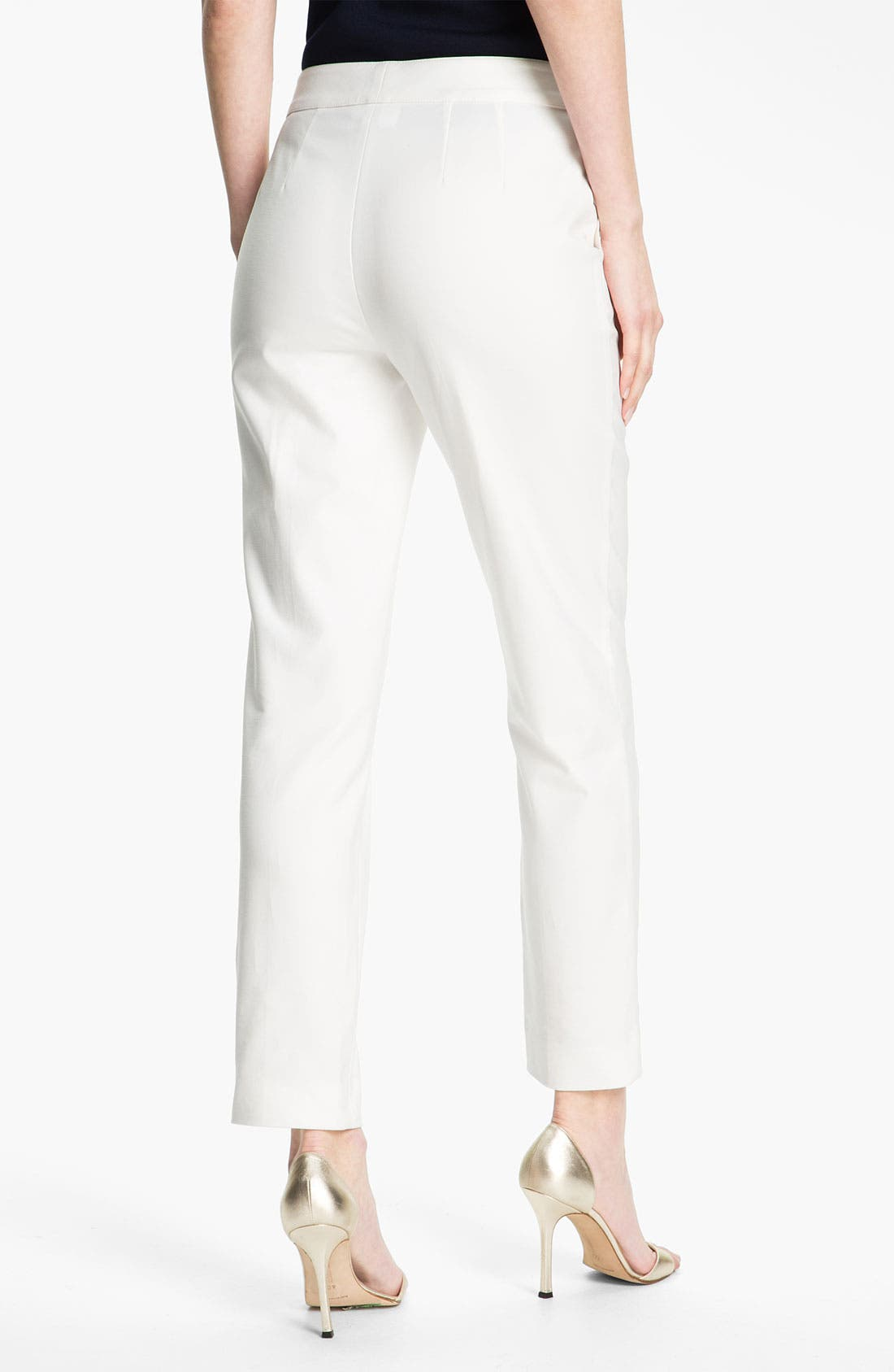 Alternate Image 3  - St. John Collection Double Weave Stretch Cotton Pants