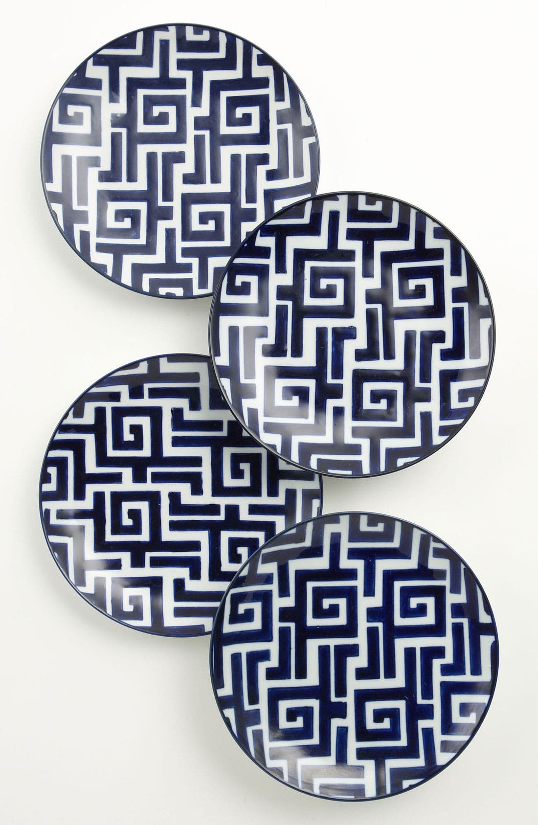 Main Image - Hand-Painted Dessert 'Moroccan' Plates (Set of 4)