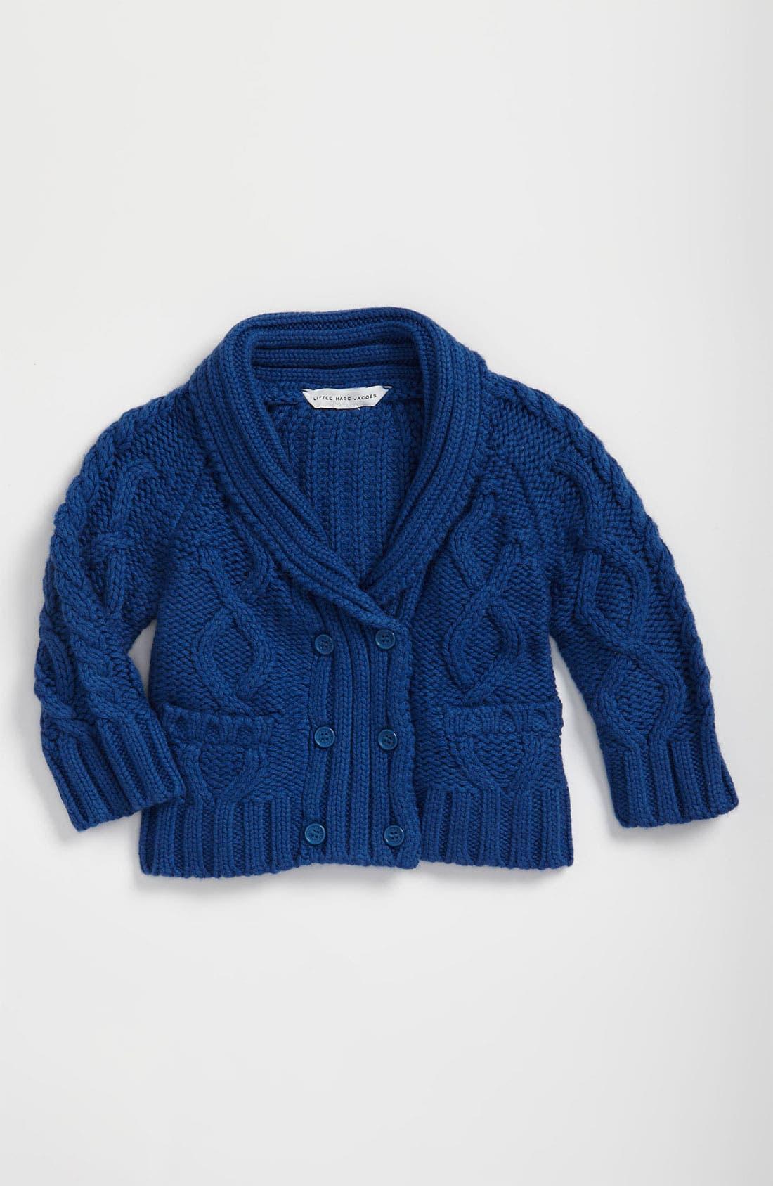 Main Image - LITTLE MARC JACOBS Knit Cardigan (Infant)