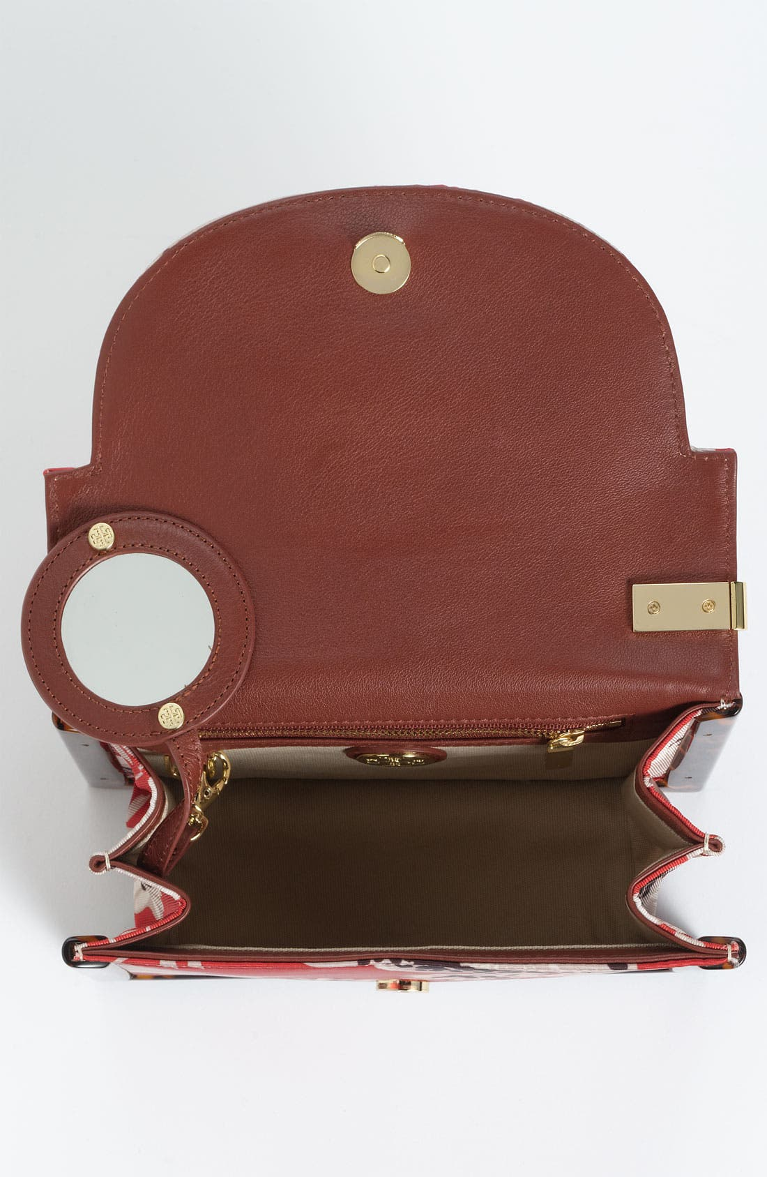 Alternate Image 3  - Tory Burch Print Faille & Resin Frame Shoulder Bag
