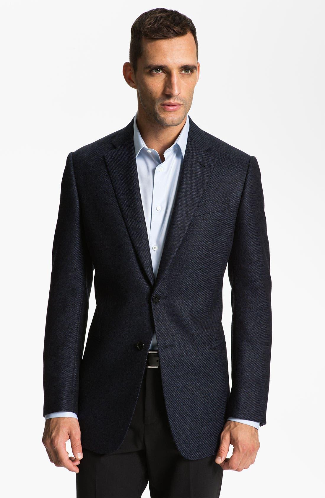 Alternate Image 1 Selected - Armani Collezioni 'Giorgio' Trim Fit Sportcoat