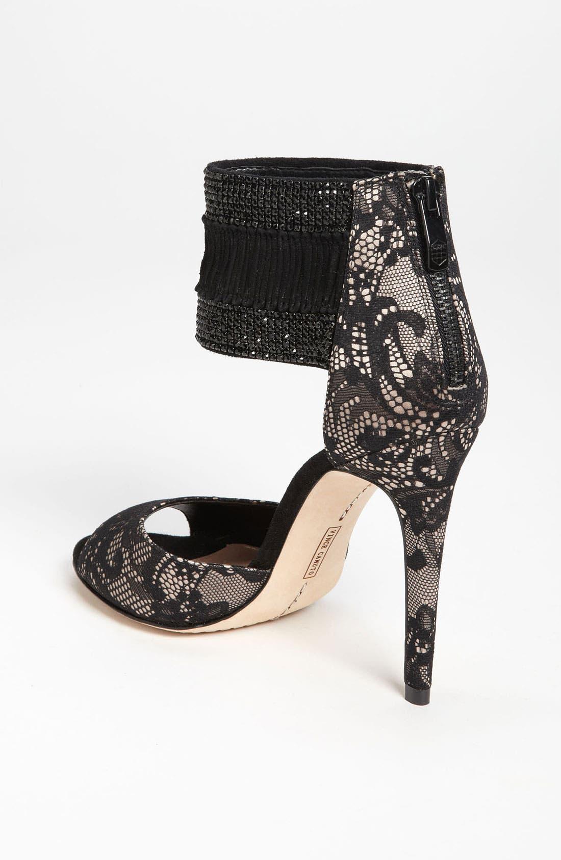 'Lissa' Sandal,                             Alternate thumbnail 2, color,                             Black