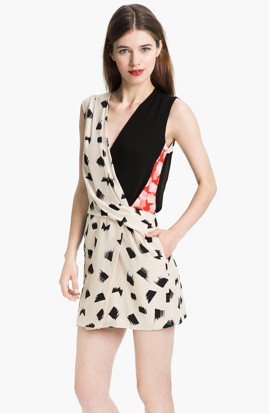Main Image - Diane von Furstenberg 'Jaime' Silk Faux Wrap Dress