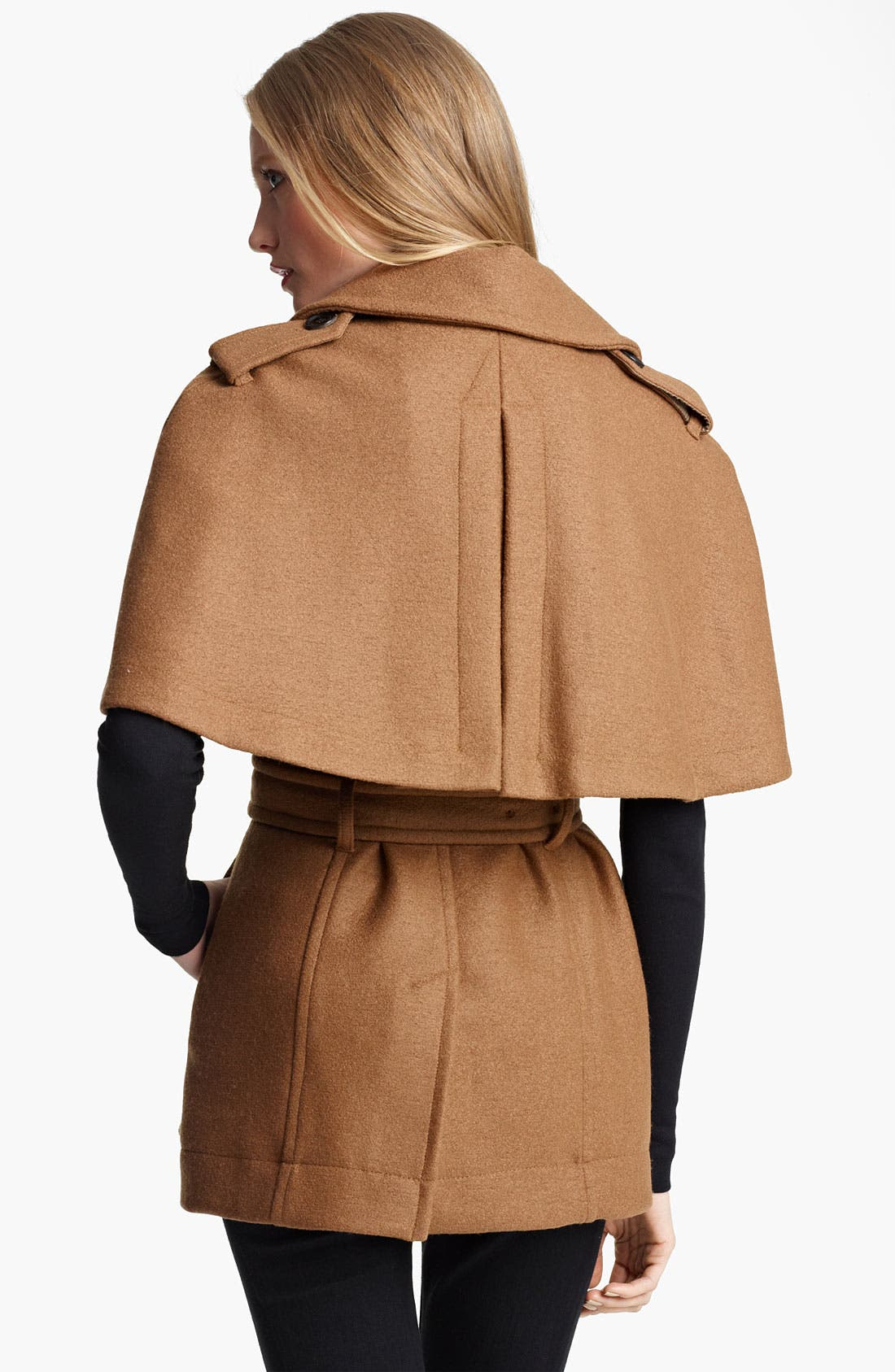 Alternate Image 2  - Burberry London Double Breasted Cape Coat