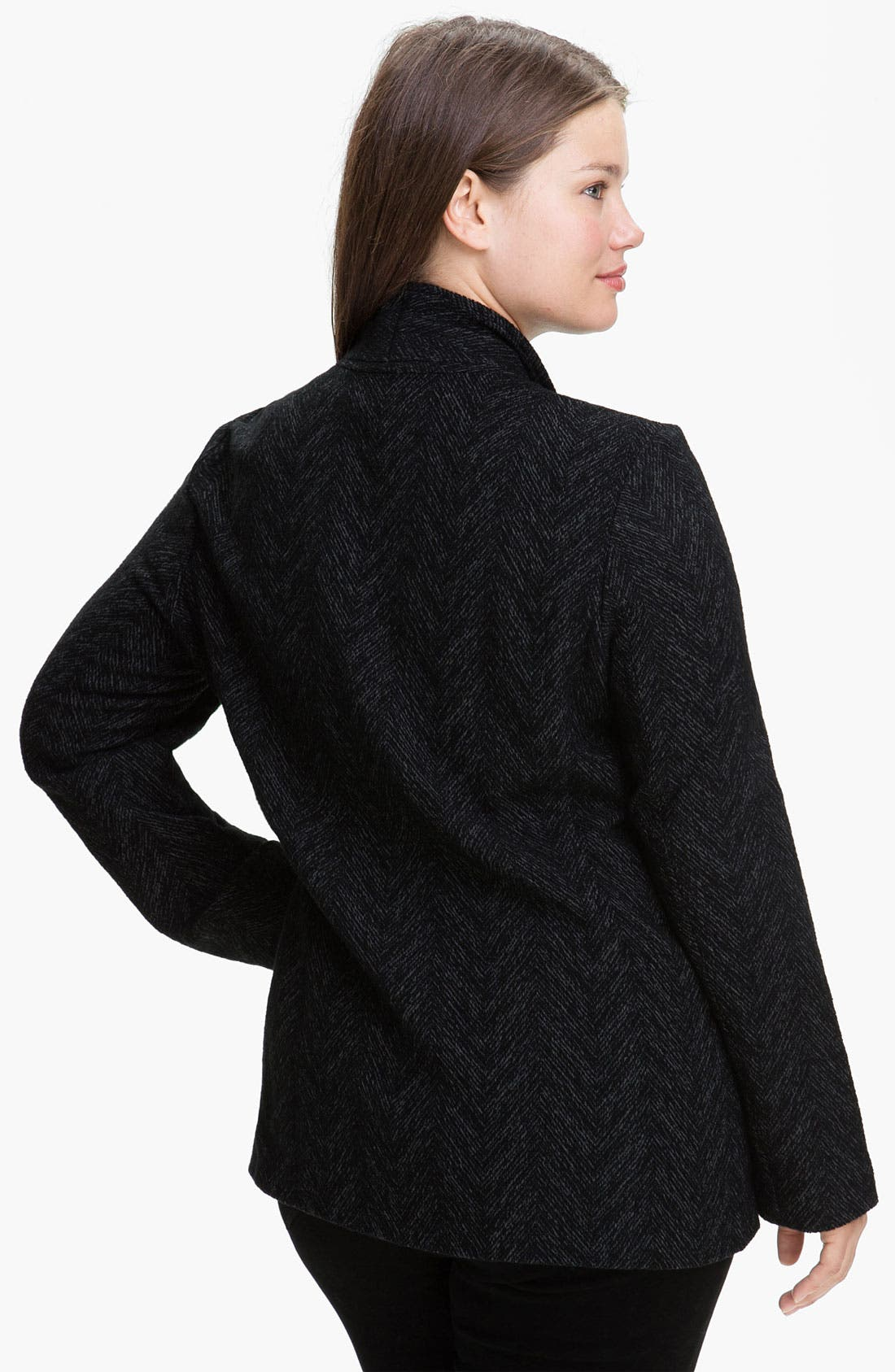Alternate Image 2  - Eileen Fisher Herringbone Jacket (Plus)