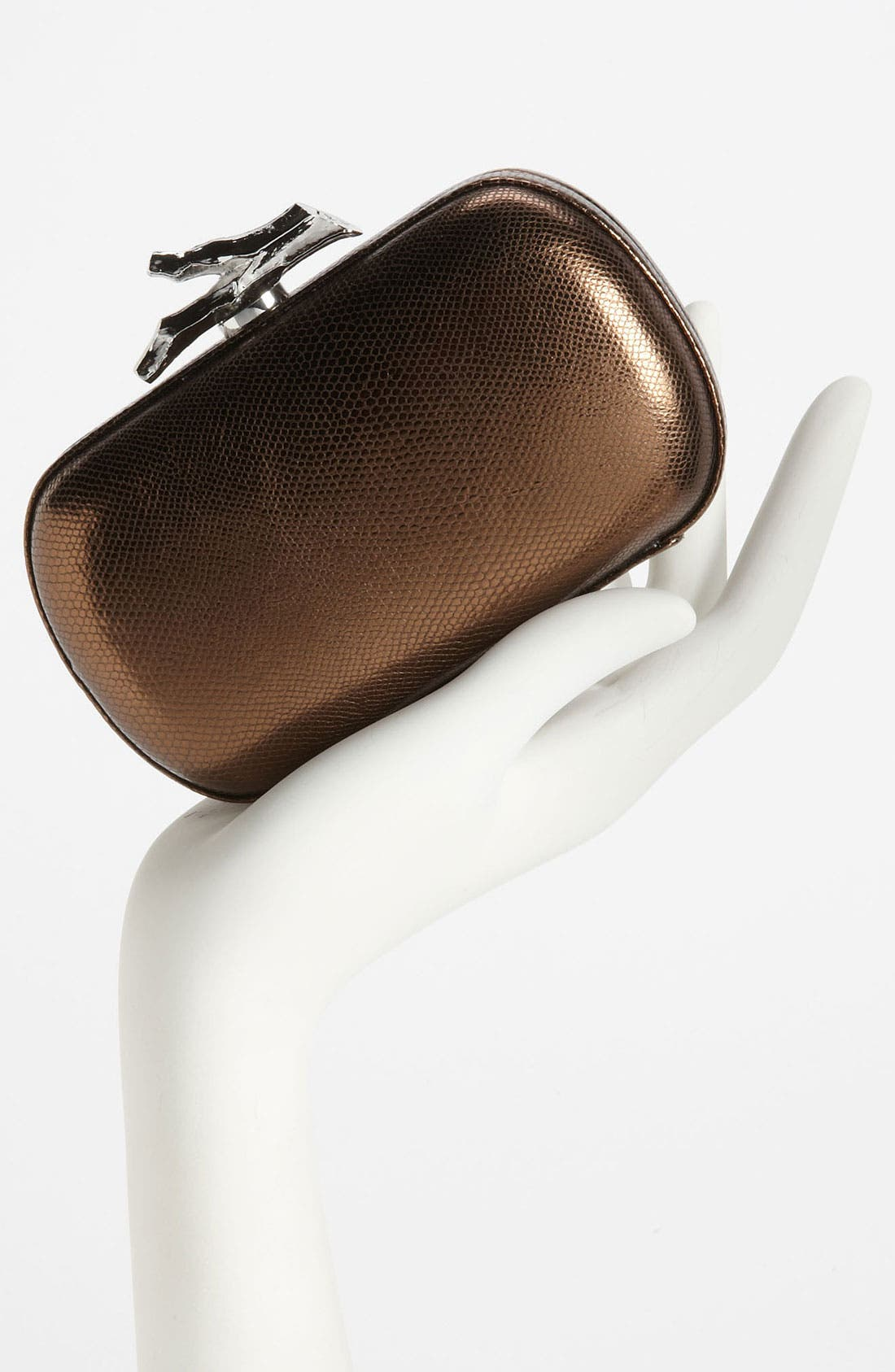 Alternate Image 2  - Diane von Furstenberg 'Lytton - Small' Metallic Leather Clutch