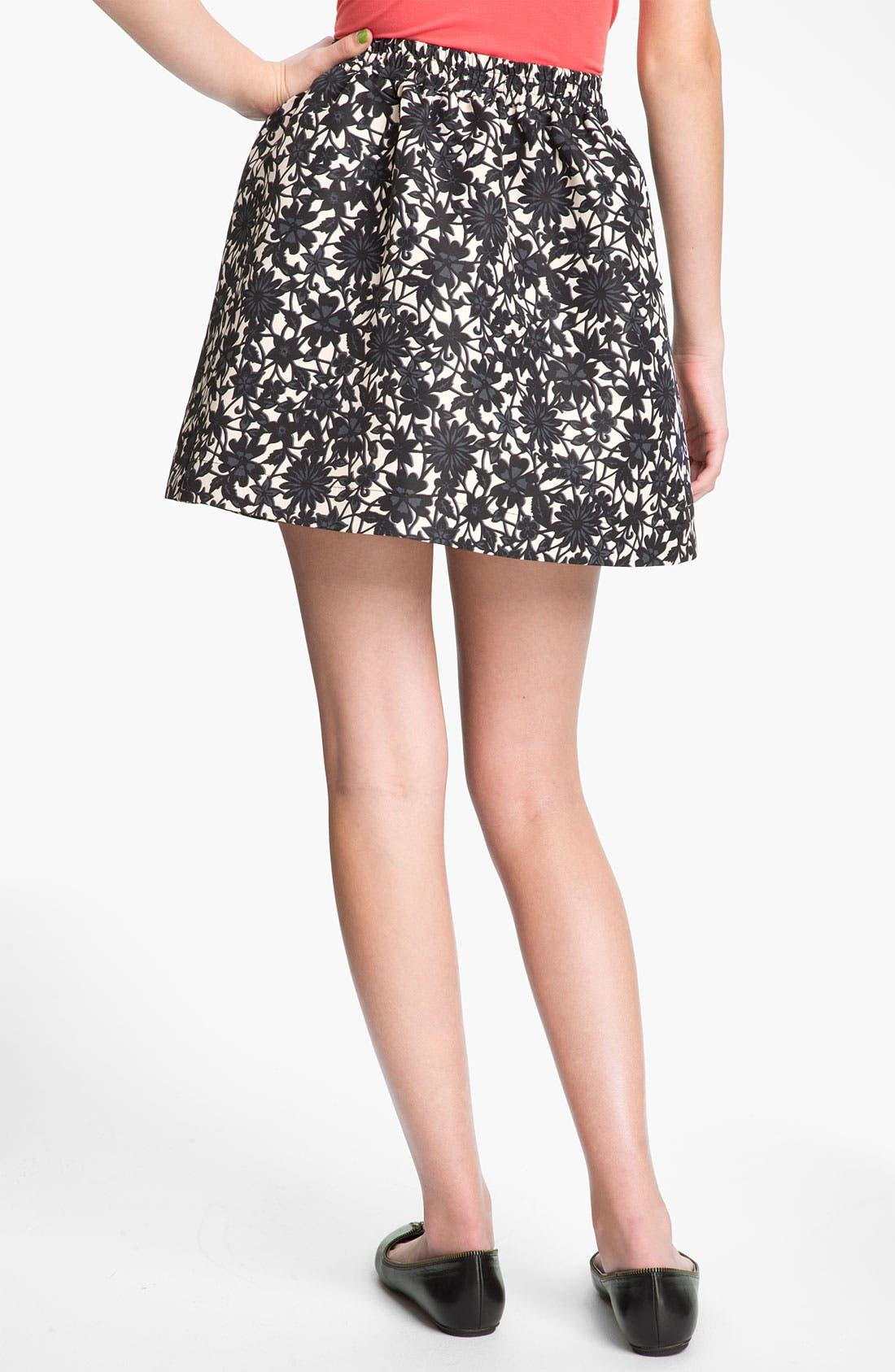 Alternate Image 2  - Frenchi® Banded Waist Full Skirt (Juniors)
