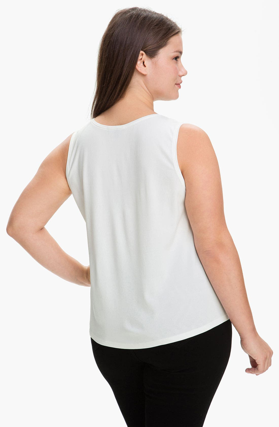 Alternate Image 2  - Eileen Fisher Silk Tank (Plus Size)