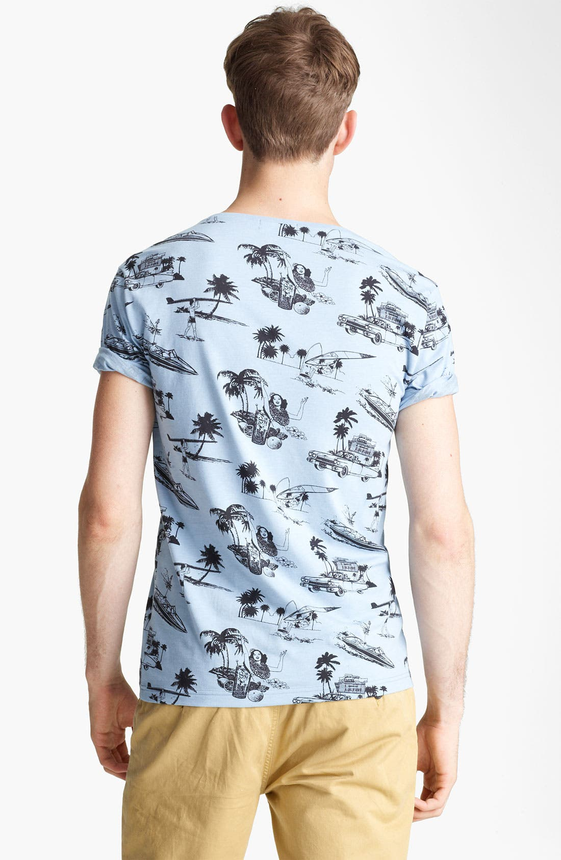 'Hawaii' All Over Print T-Shirt,                             Alternate thumbnail 2, color,                             Blue