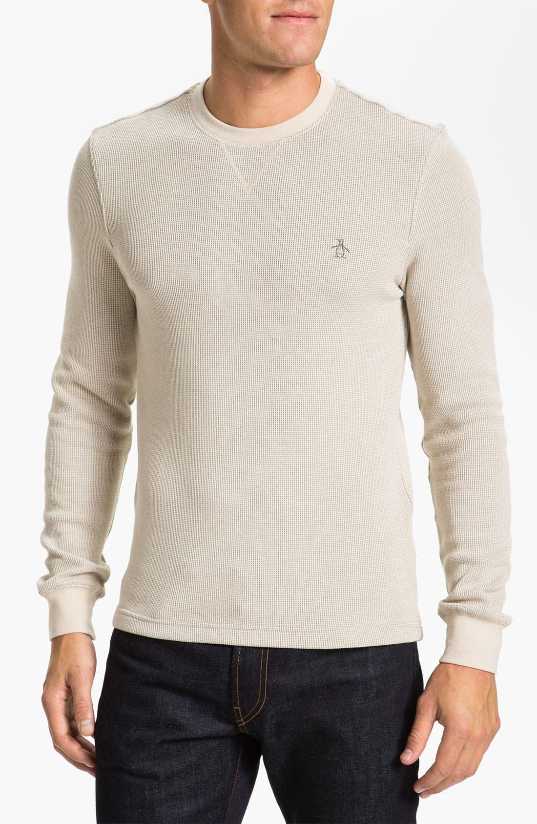 Alternate Image 1 Selected - Original Penguin 'Bernardo' Crewneck Thermal T-Shirt