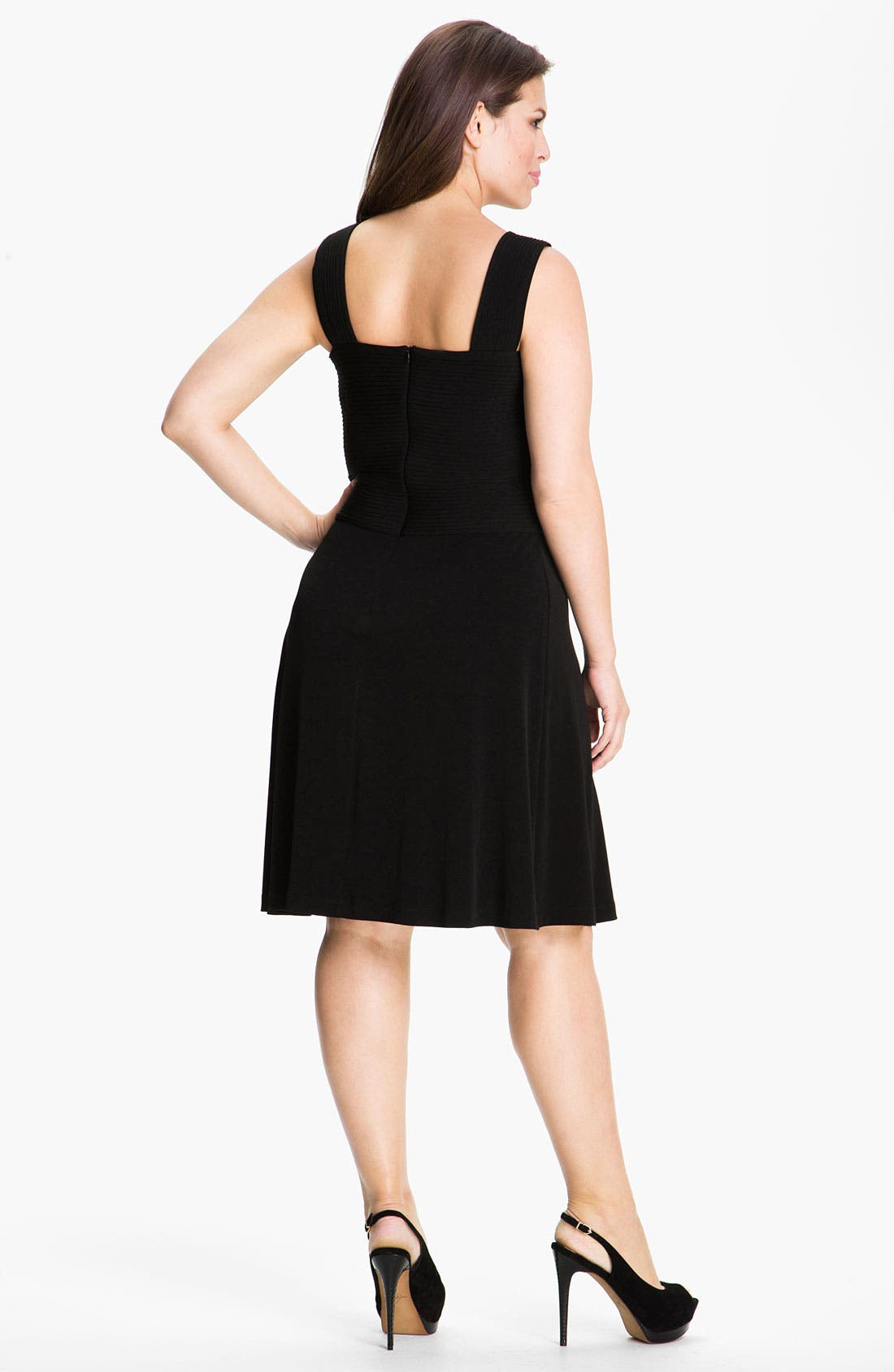 Alternate Image 2  - Calvin Klein Crisscross Sleeveless Knit Dress (Plus)