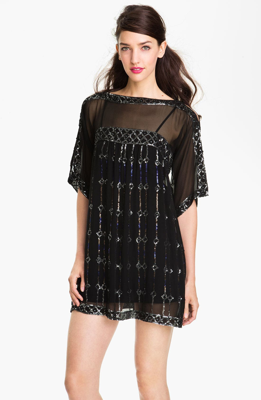 Alternate Image 1 Selected - Nanette Lepore 'Dorian' Silk Shift Dress