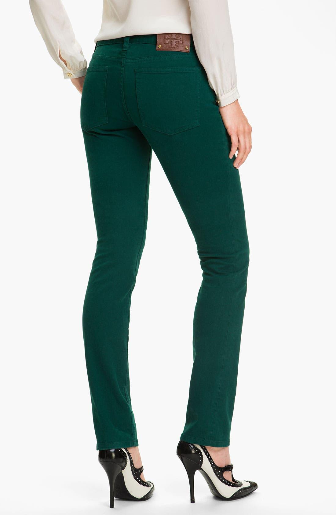 Alternate Image 2  - Tory Burch 'Ivy' Skinny Stretch Jeans