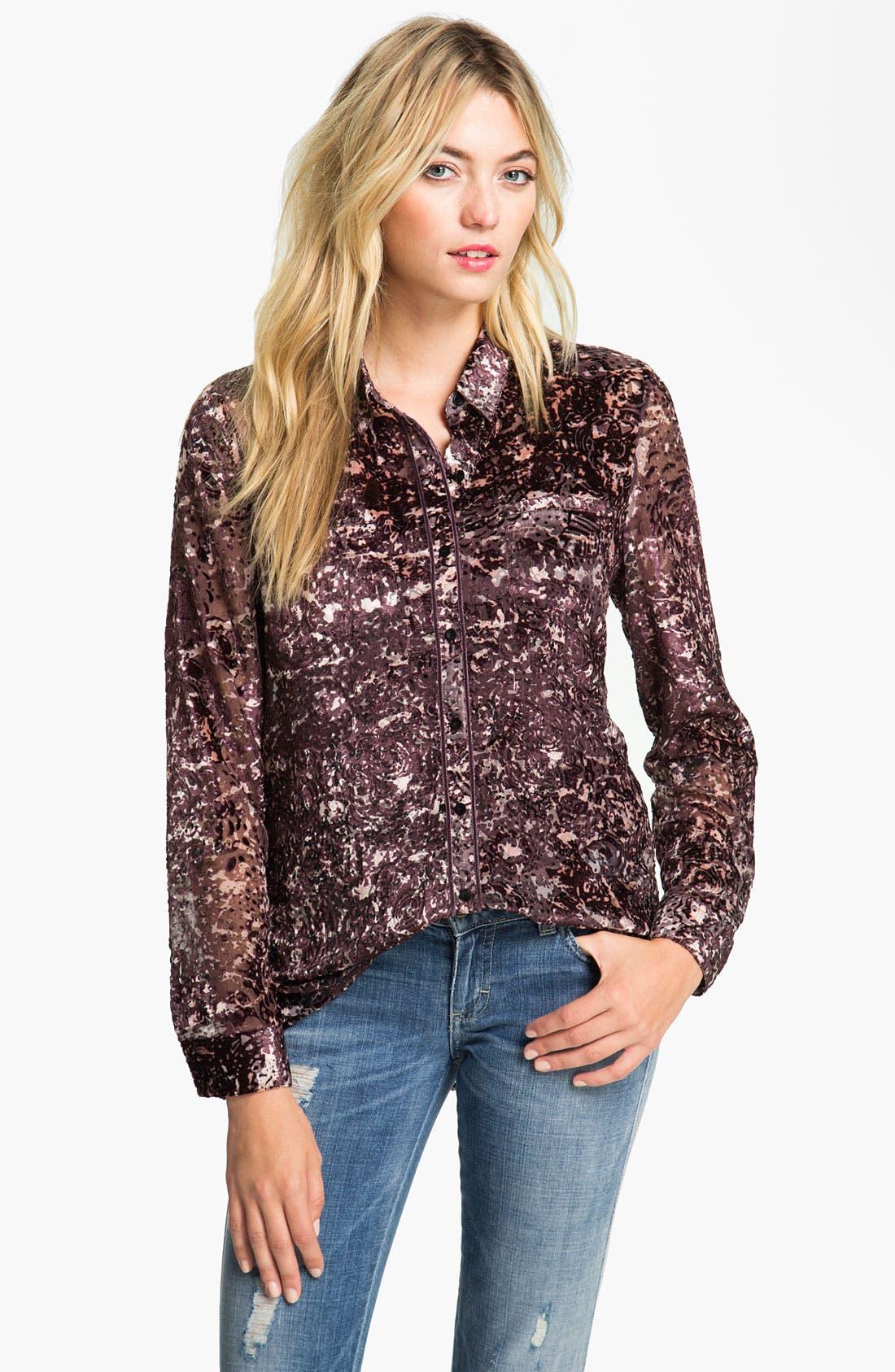 Alternate Image 1 Selected - Hinge® Spatter Burnout Velvet Shirt