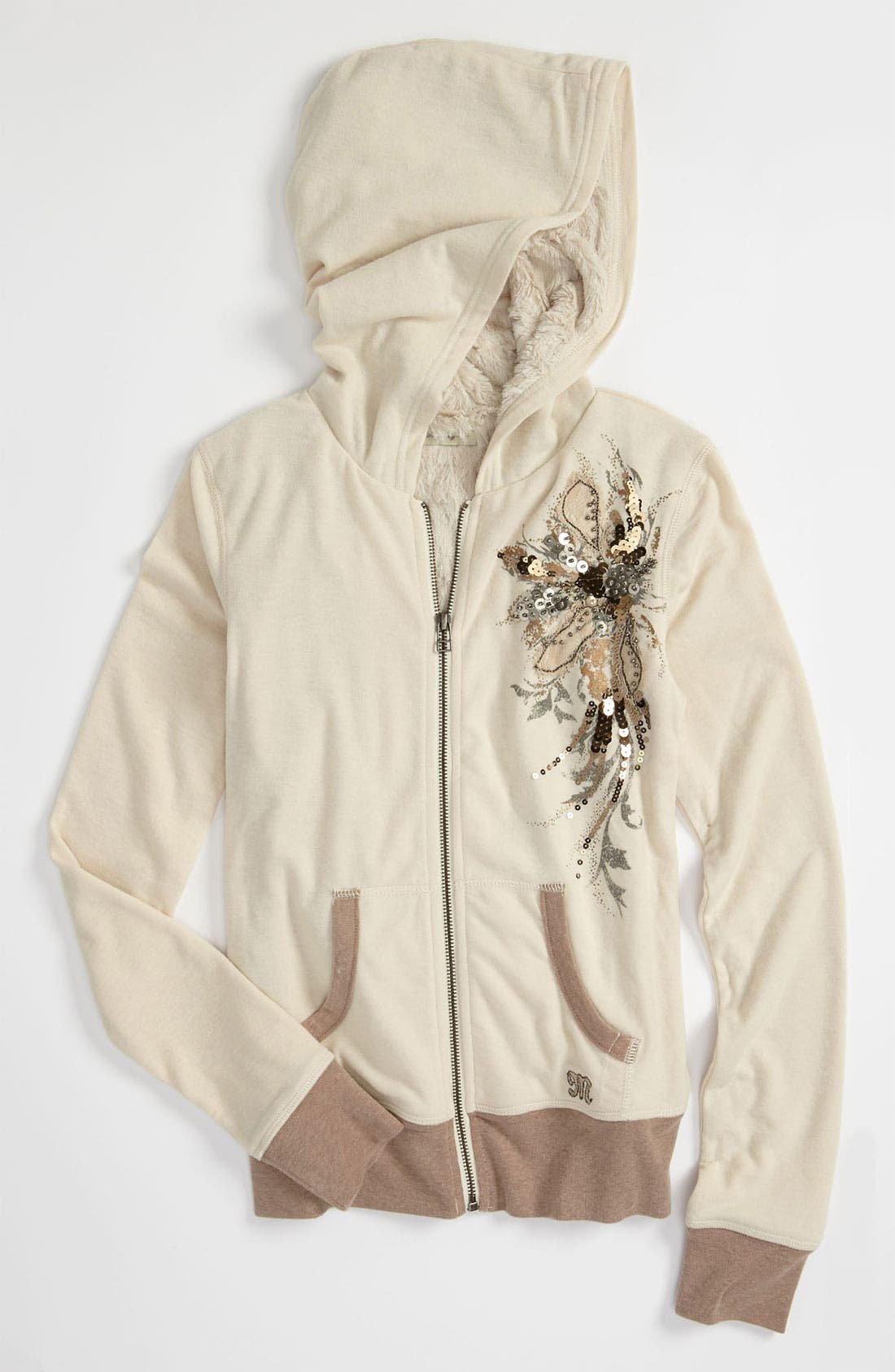Alternate Image 1 Selected - Miss Me Faux Fur Lined Jacket (Big Girls)