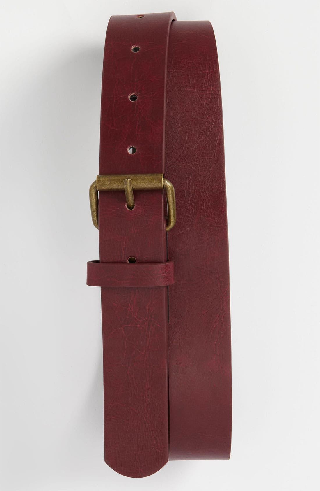 Main Image - Topman Slim Faux Leather Belt