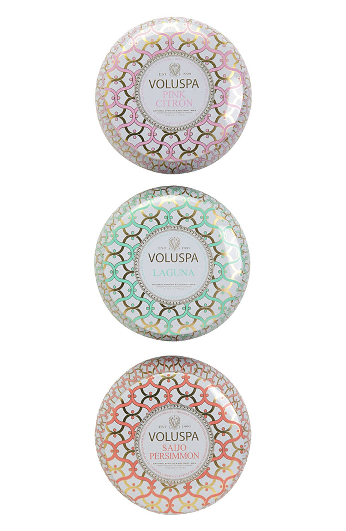 Maison Blanc Two-Wick Tin Candle Trio,                             Alternate thumbnail 3, color,                             No Color
