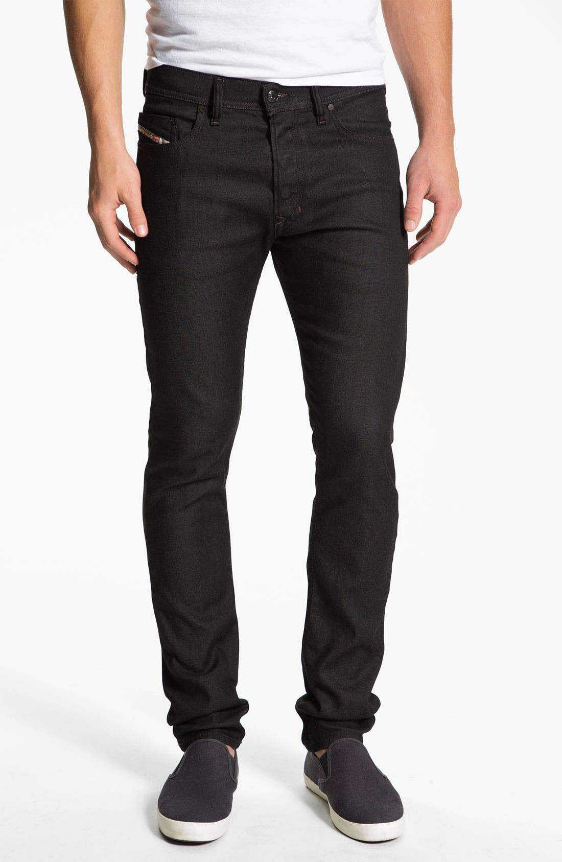 Alternate Image 2  - DIESEL® 'Tepphar' Slim Tapered Leg Jeans (0800W)