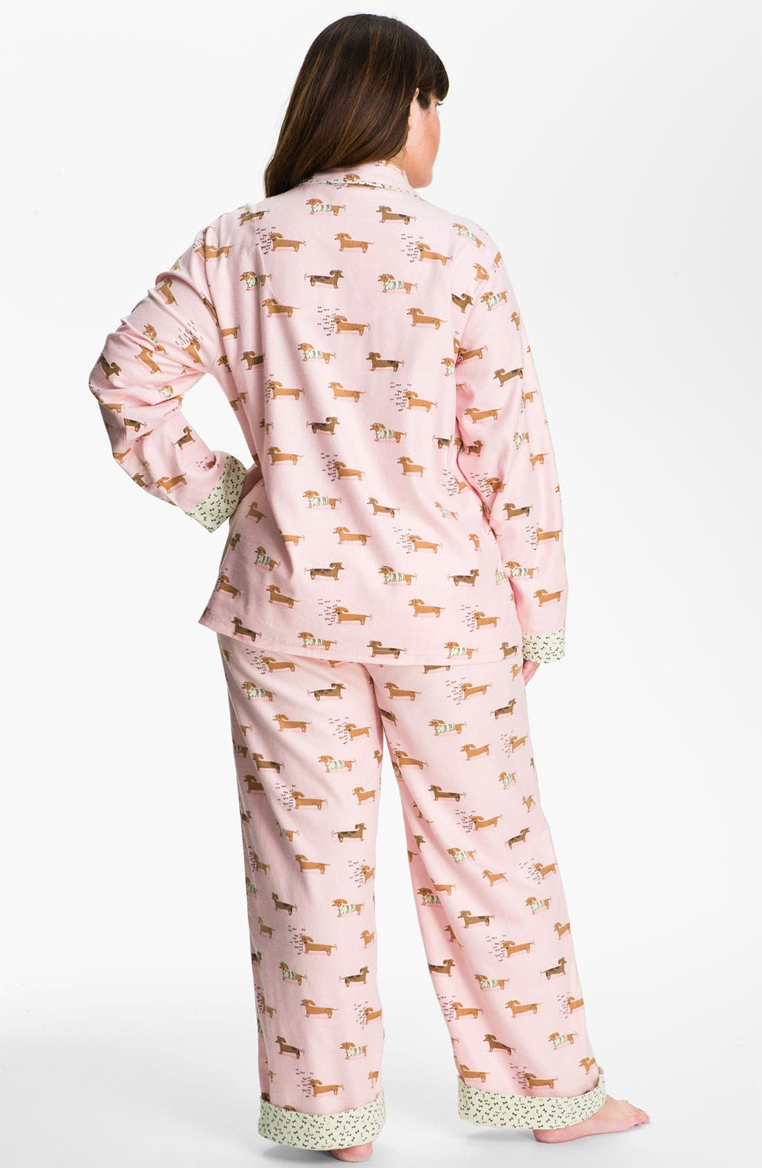 Alternate Image 2  - Munki Munki Print Flannel Pajamas (Plus Size)