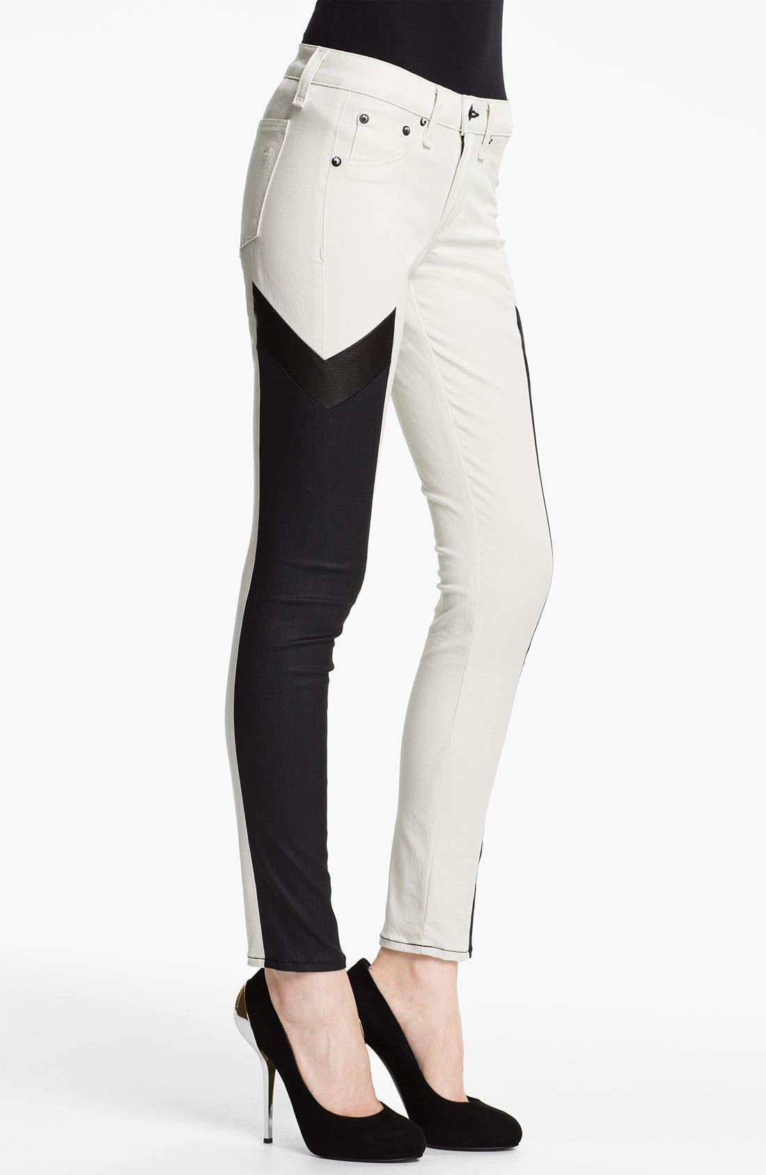 Alternate Image 4  - rag & bone 'Grand Prix Motocross' Paneled Leggings