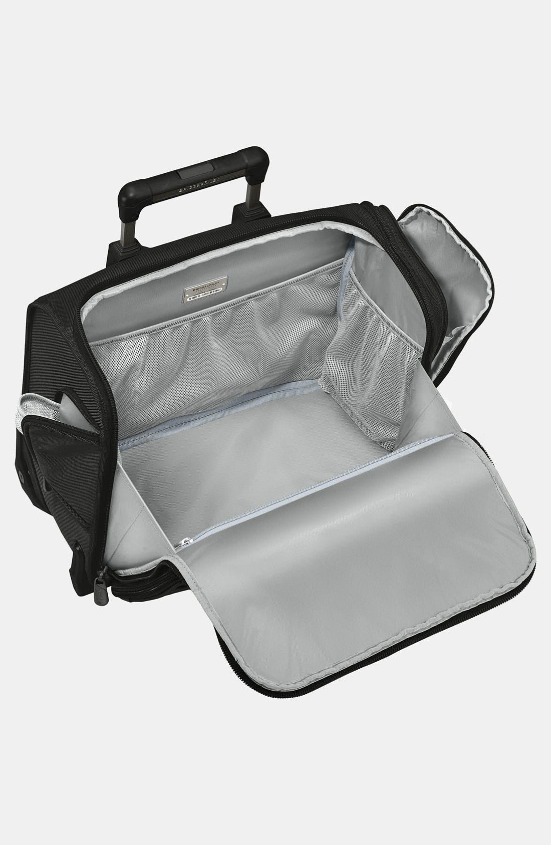 'Baseline' Rolling Cabin Bag,                             Alternate thumbnail 3, color,                             Black