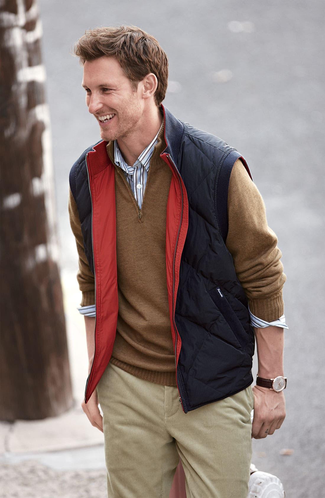 Alternate Image 2  - Façonnable Classique Fit Reversible Zip Vest