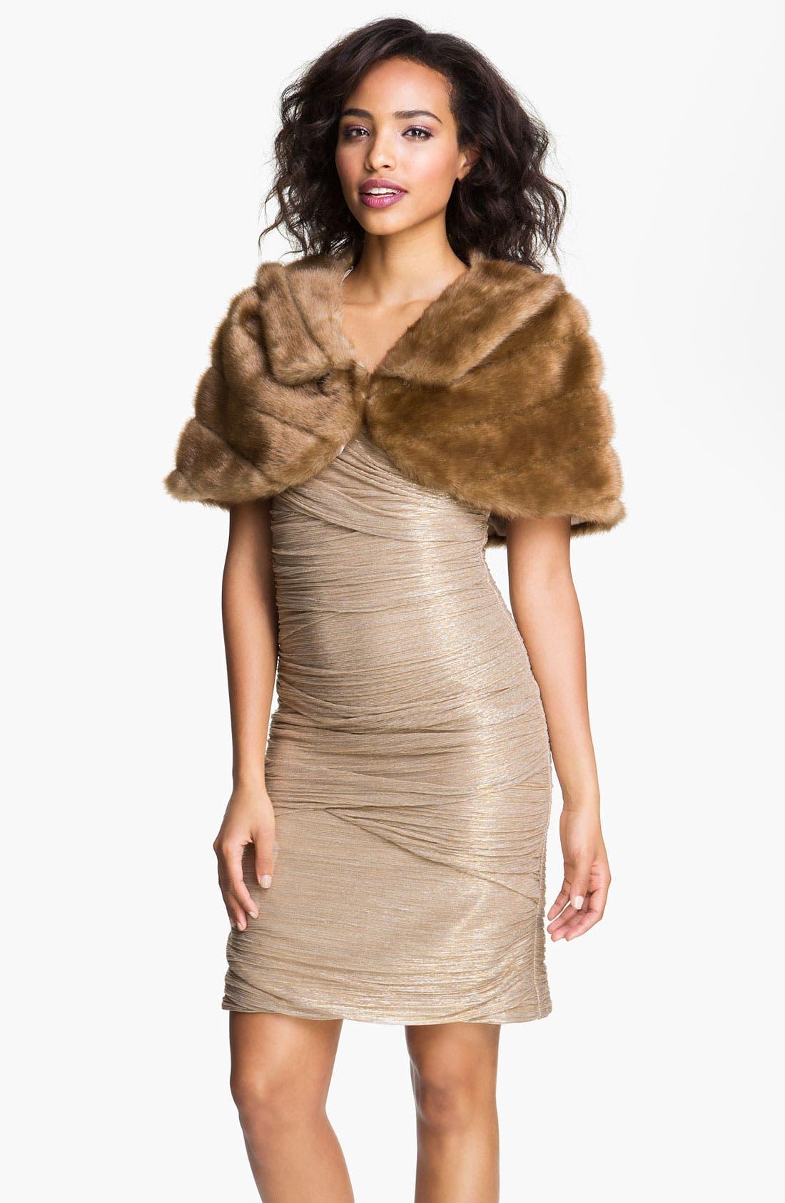 Main Image - Eliza J Collared Faux Fur Bolero
