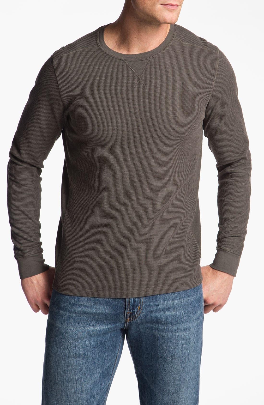 Alternate Image 1 Selected - AG Jeans Long Sleeve Crewneck Thermal Shirt