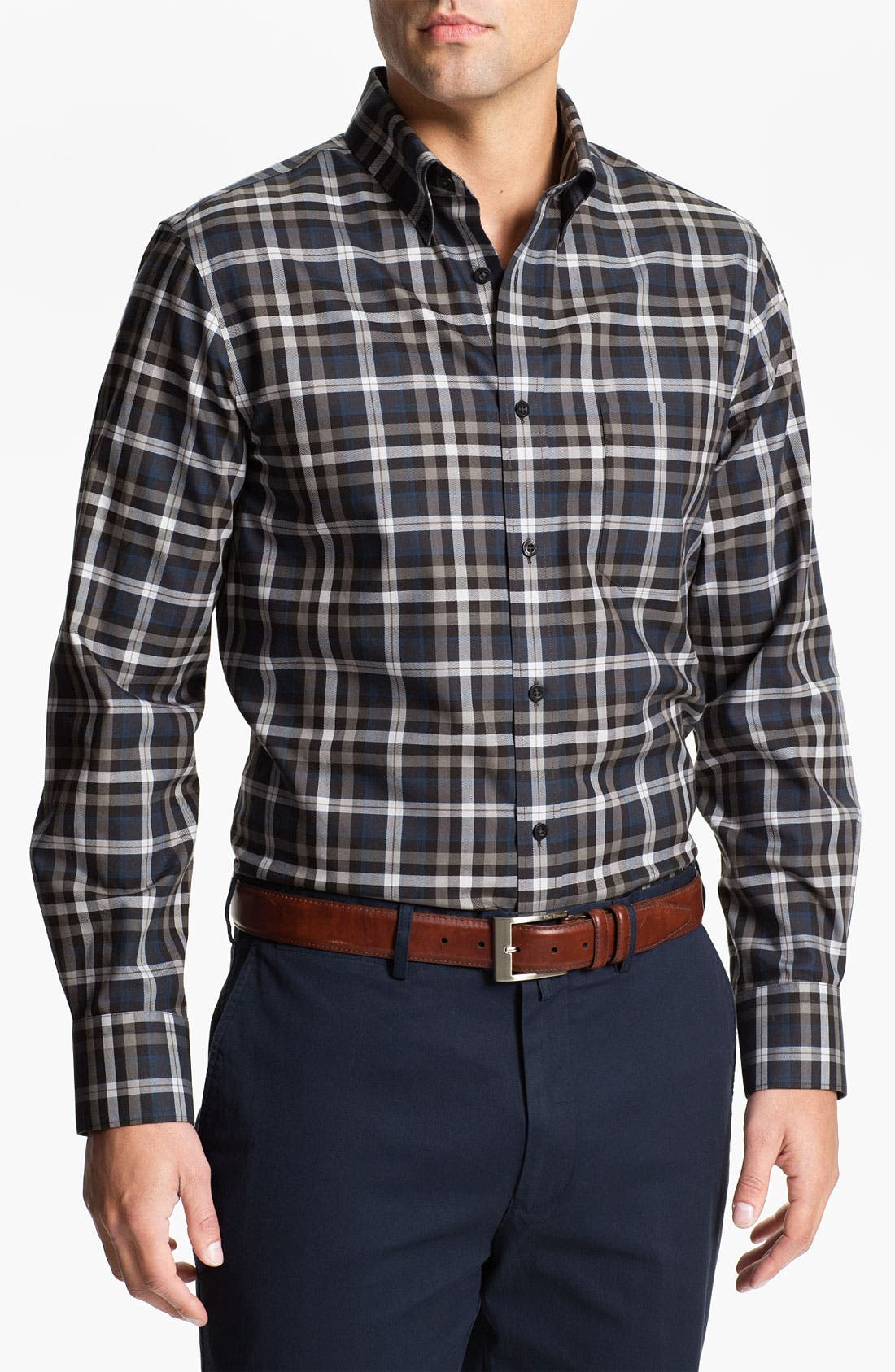 Alternate Image 1 Selected - Nordstrom Regular Fit Twill Sport Shirt