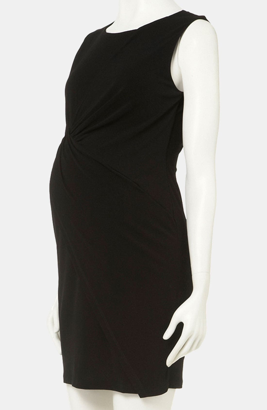 Alternate Image 1 Selected - Topshop Knot Detail Maternity Dress