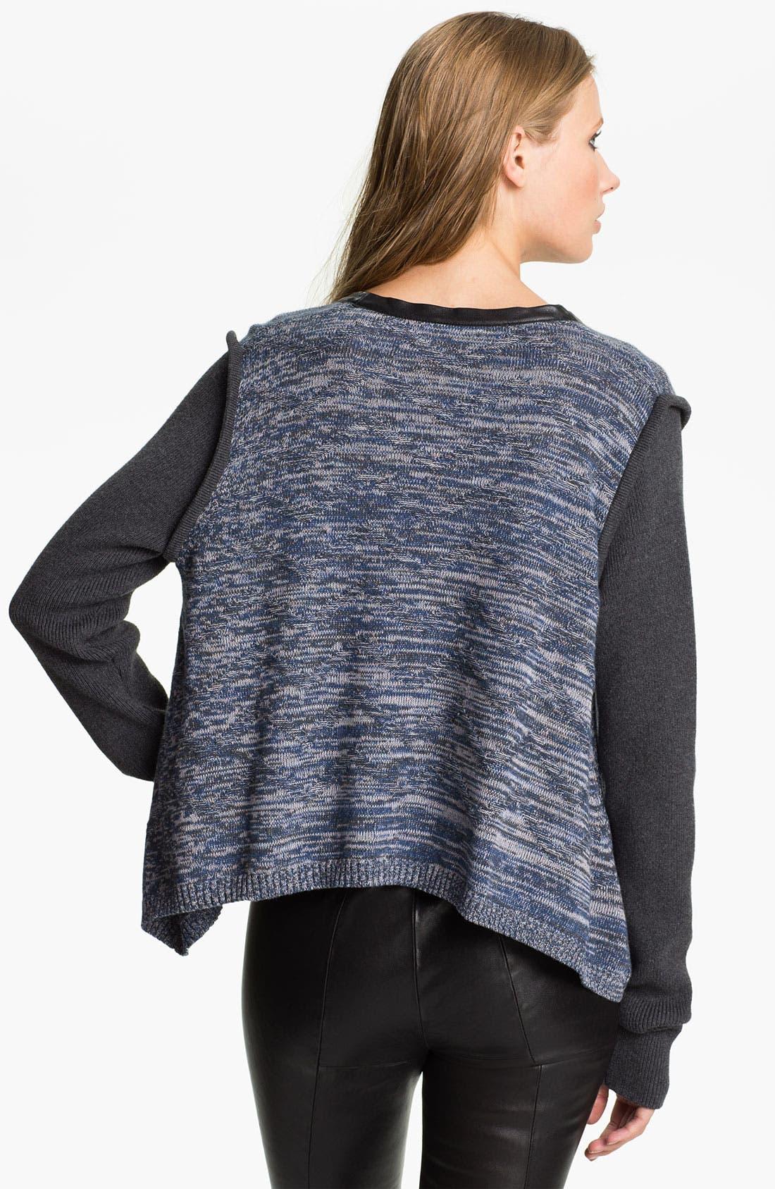 Alternate Image 2  - Cut25 Marled Knit Top