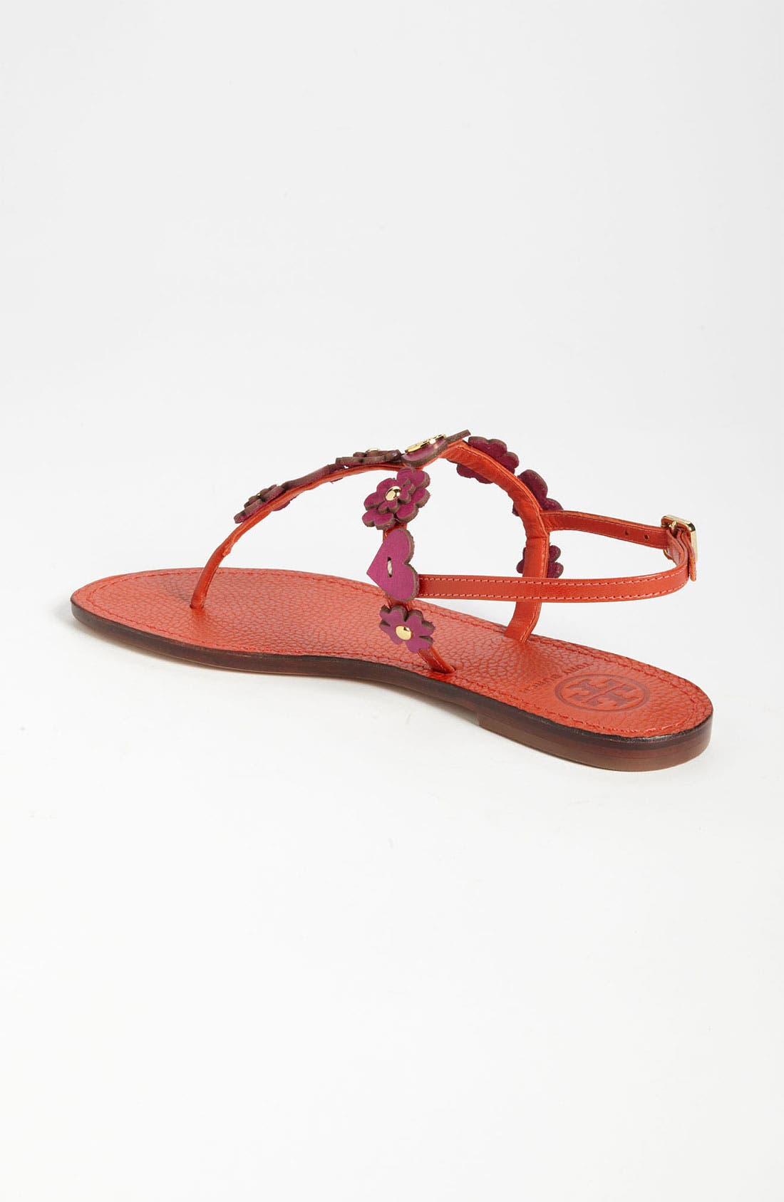 'Cori' Thong Sandal,                             Alternate thumbnail 2, color,                             Flame Red Party Fuchsia