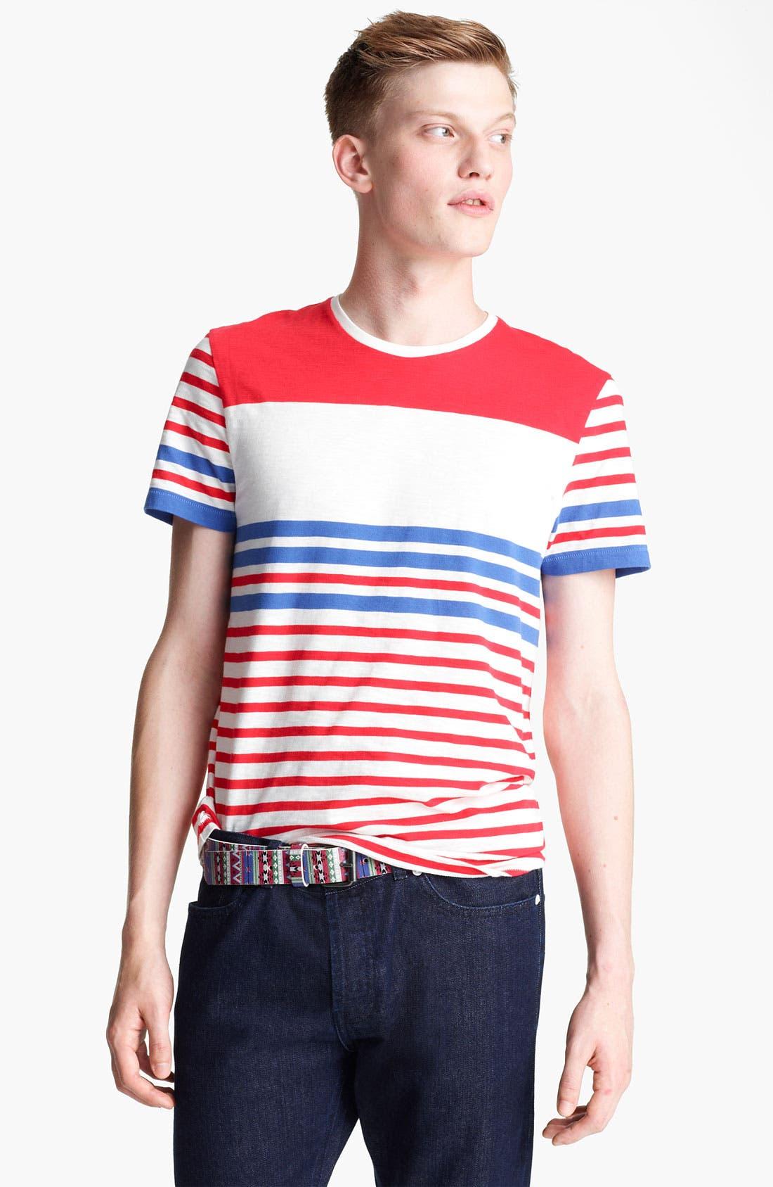 Alternate Image 1 Selected - Topman Breton Stripe T-Shirt