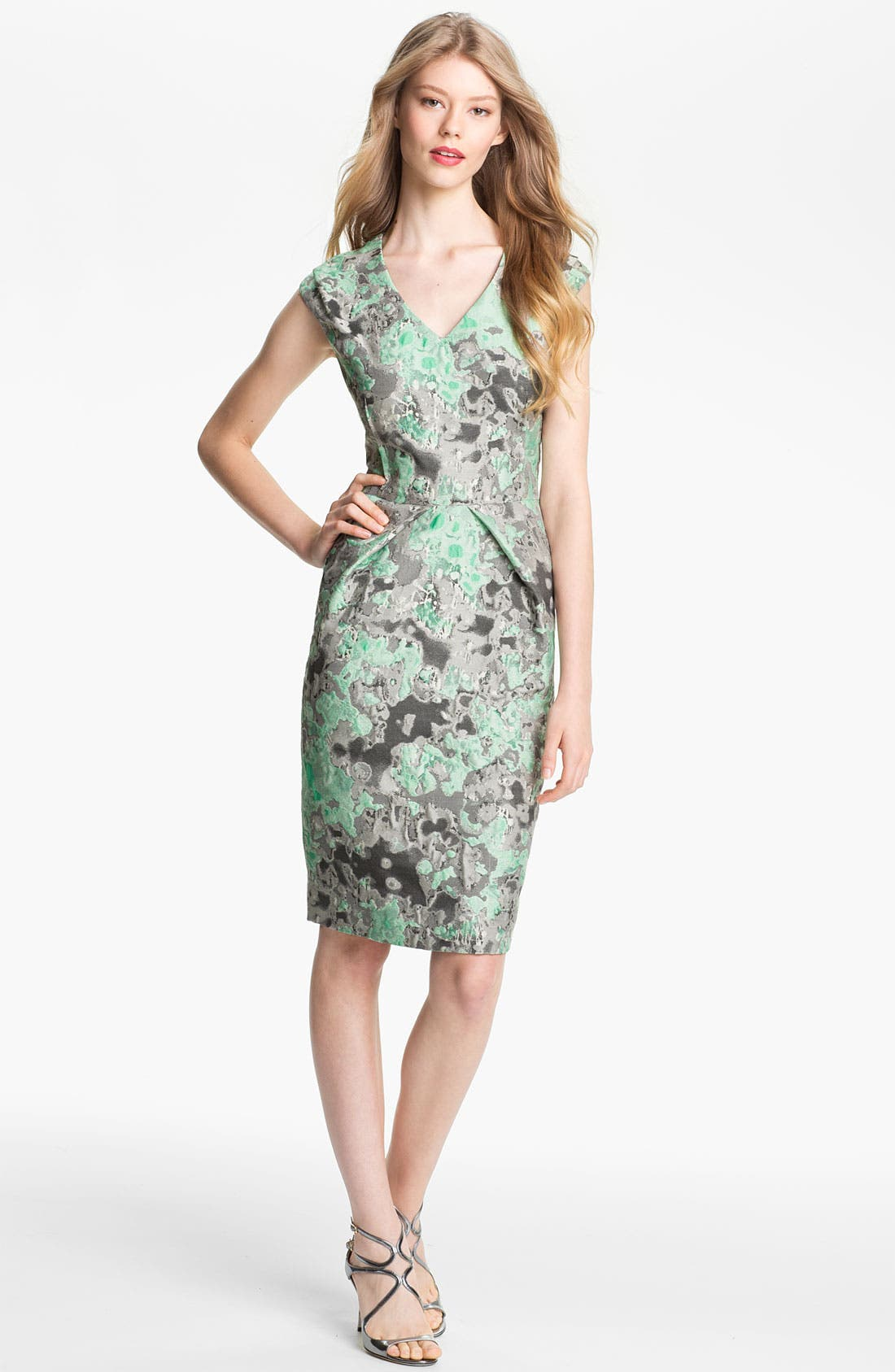 Alternate Image 1 Selected - Lela Rose Jacquard Dress