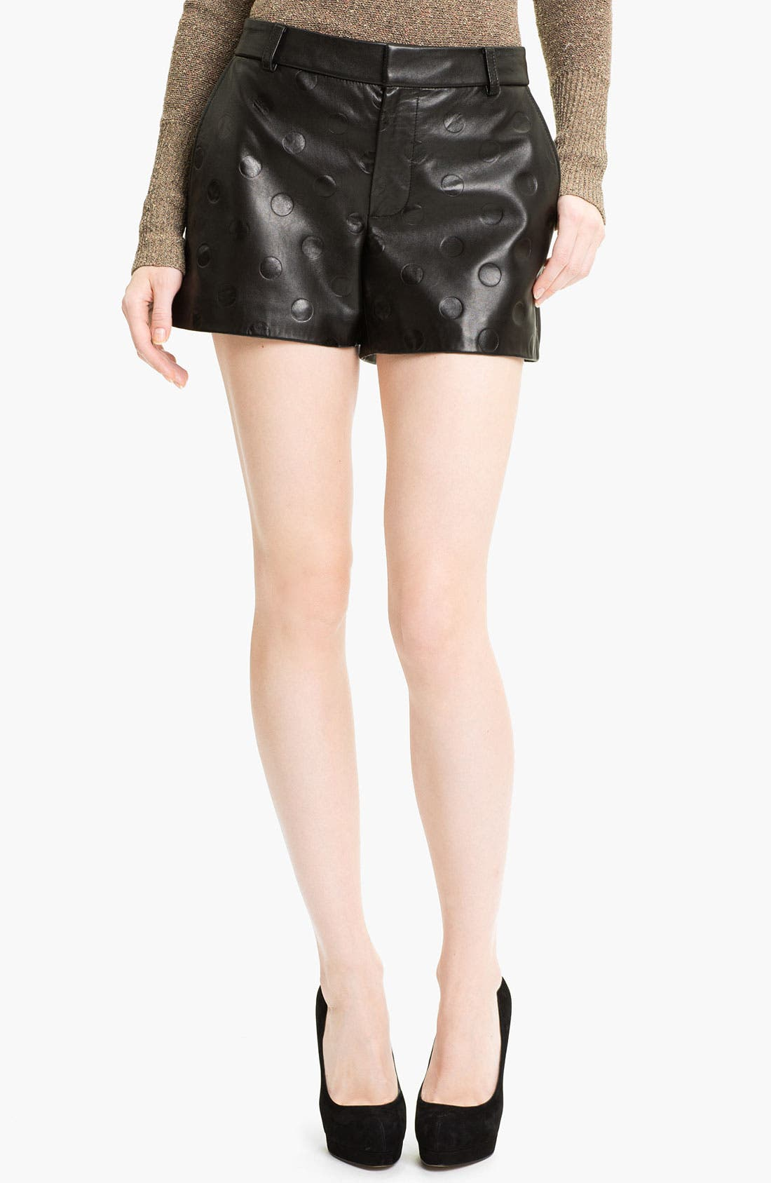 Alternate Image 1 Selected - MARC BY MARC JACOBS 'Gia' Dot Leather Shorts
