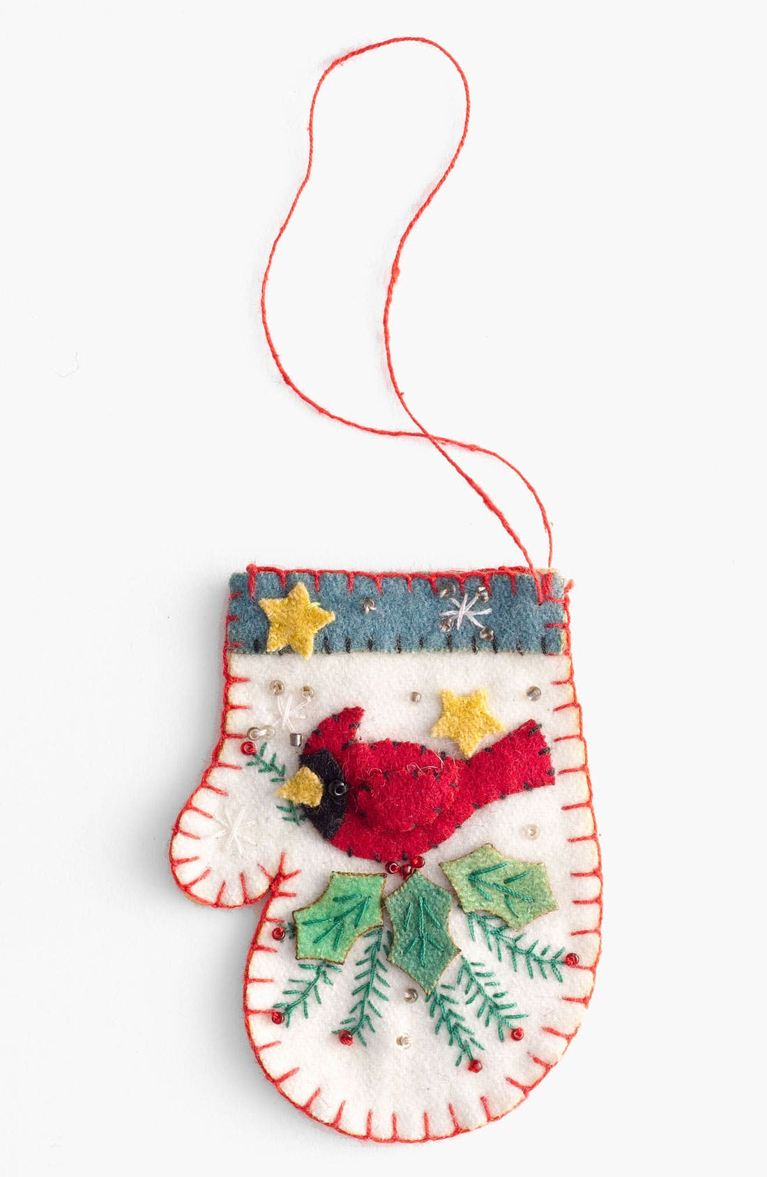 Alternate Image 1 Selected - New World Arts 'Cardinal' Mitten Ornament