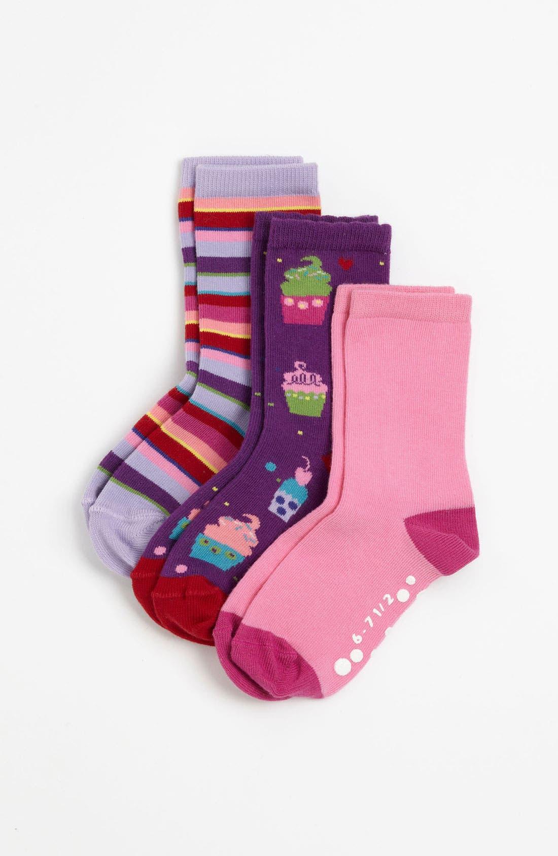 Alternate Image 1 Selected - Nordstrom 'Sweet Treats' Crew Socks (3-Pack) (Girls)