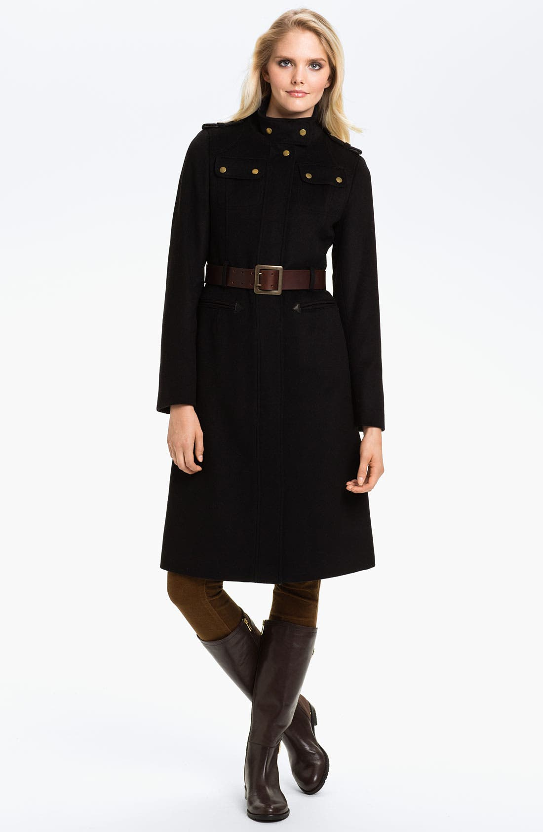 Alternate Image 1 Selected - Barbour 'Falcon' Wool Blend Coat