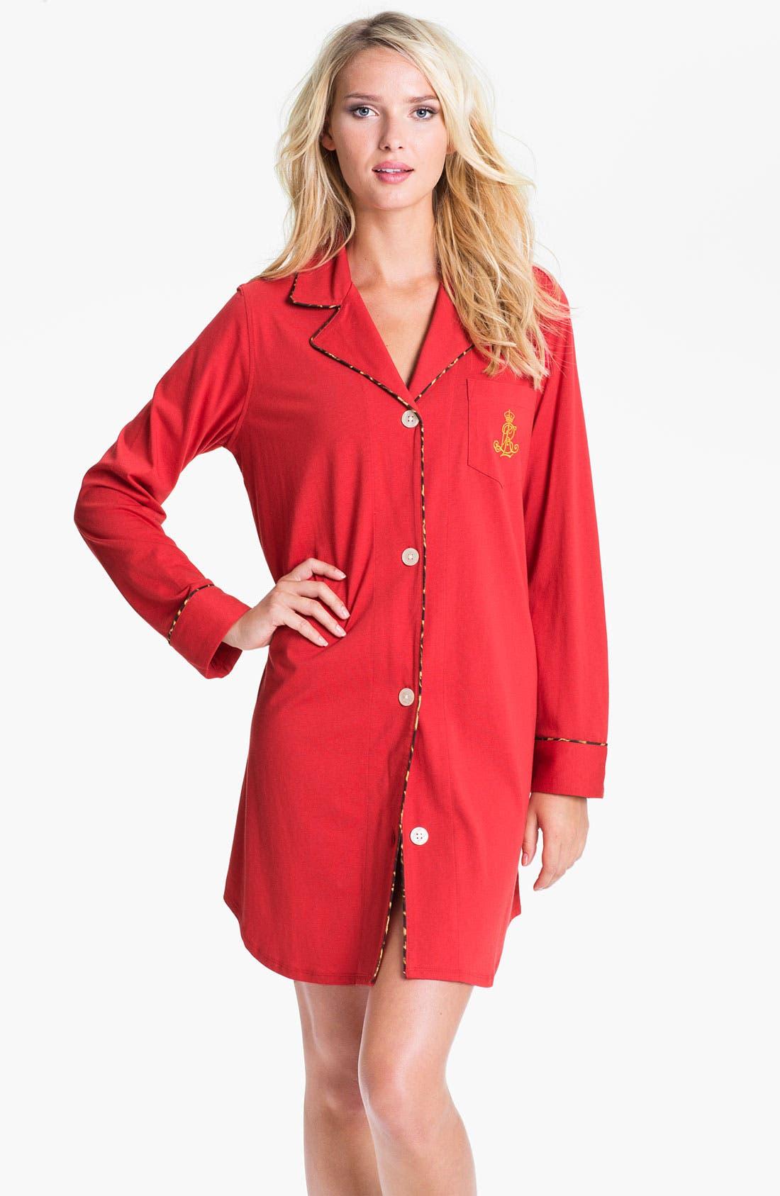 Main Image - Lauren Ralph Lauren Sleepwear Knit Nightshirt