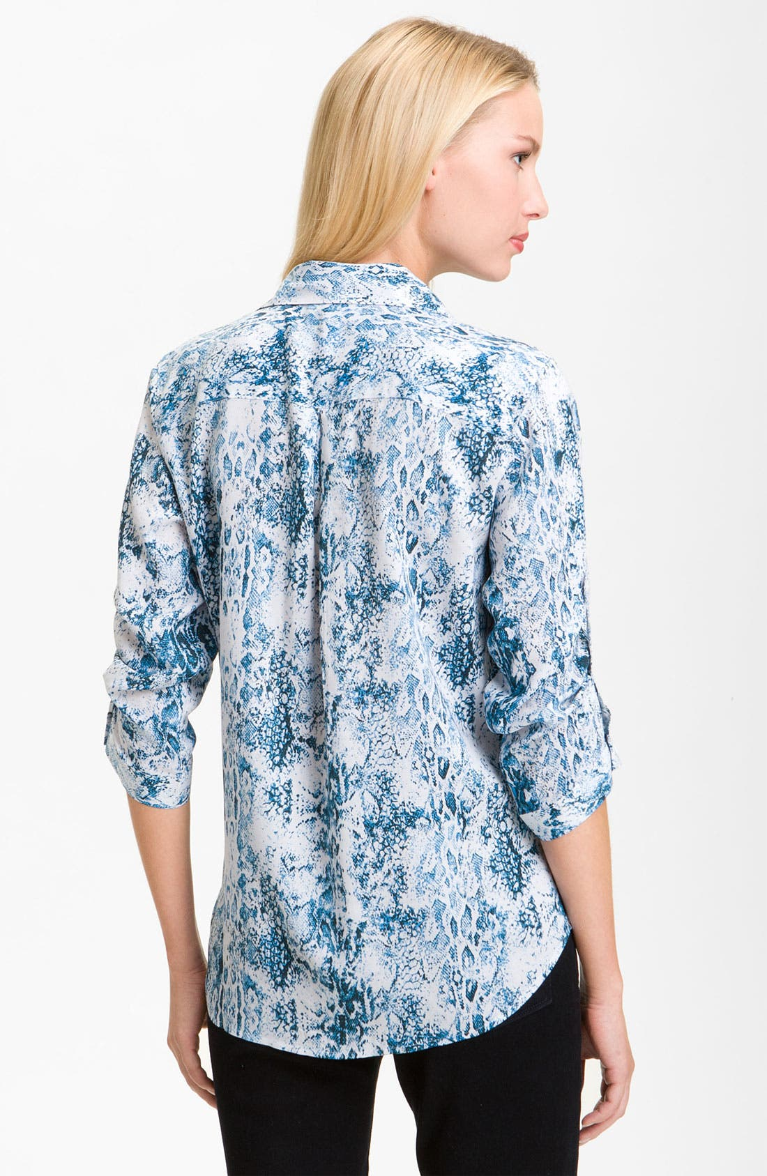 Alternate Image 2  - Foxcroft Python Print Shirt (Petite)