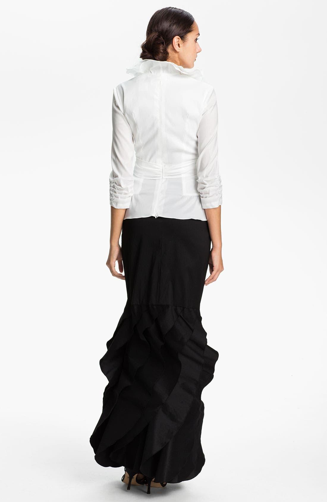 Alternate Image 2  - Tadashi Shoji Tier Hem Taffeta Skirt