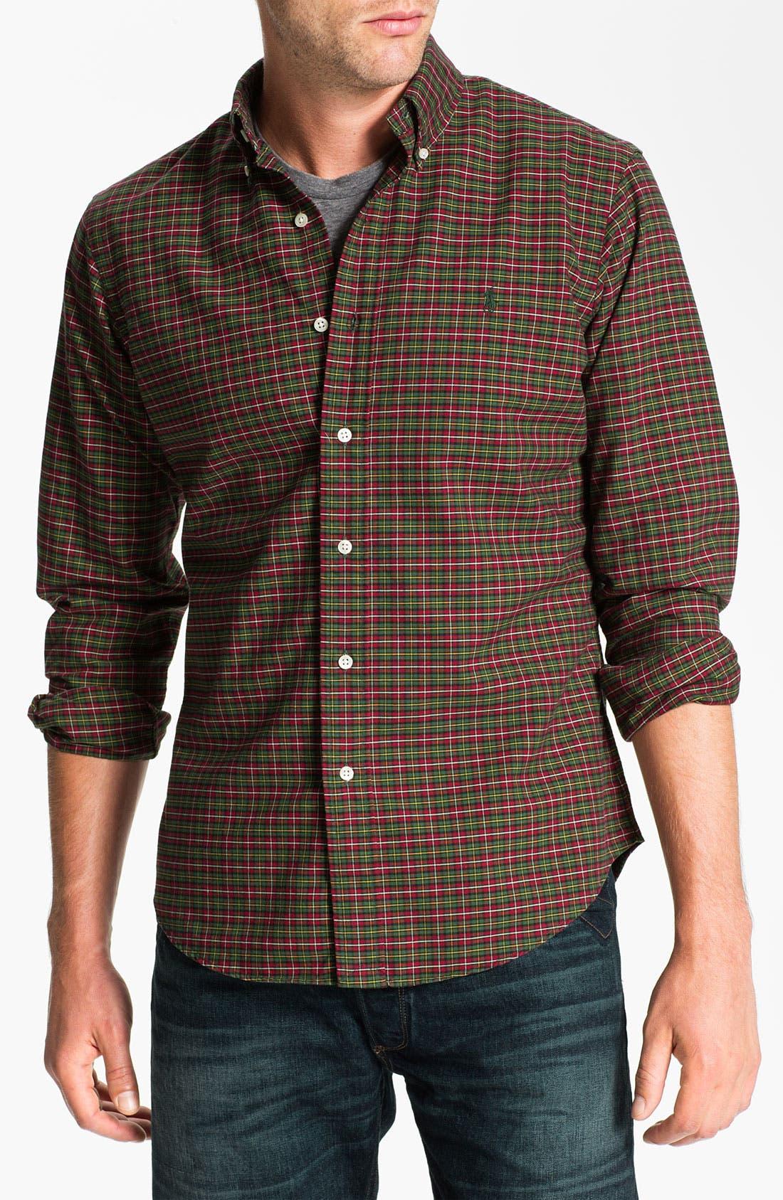 Alternate Image 1 Selected - Polo Ralph Lauren Custom Fit Plaid Sport Shirt
