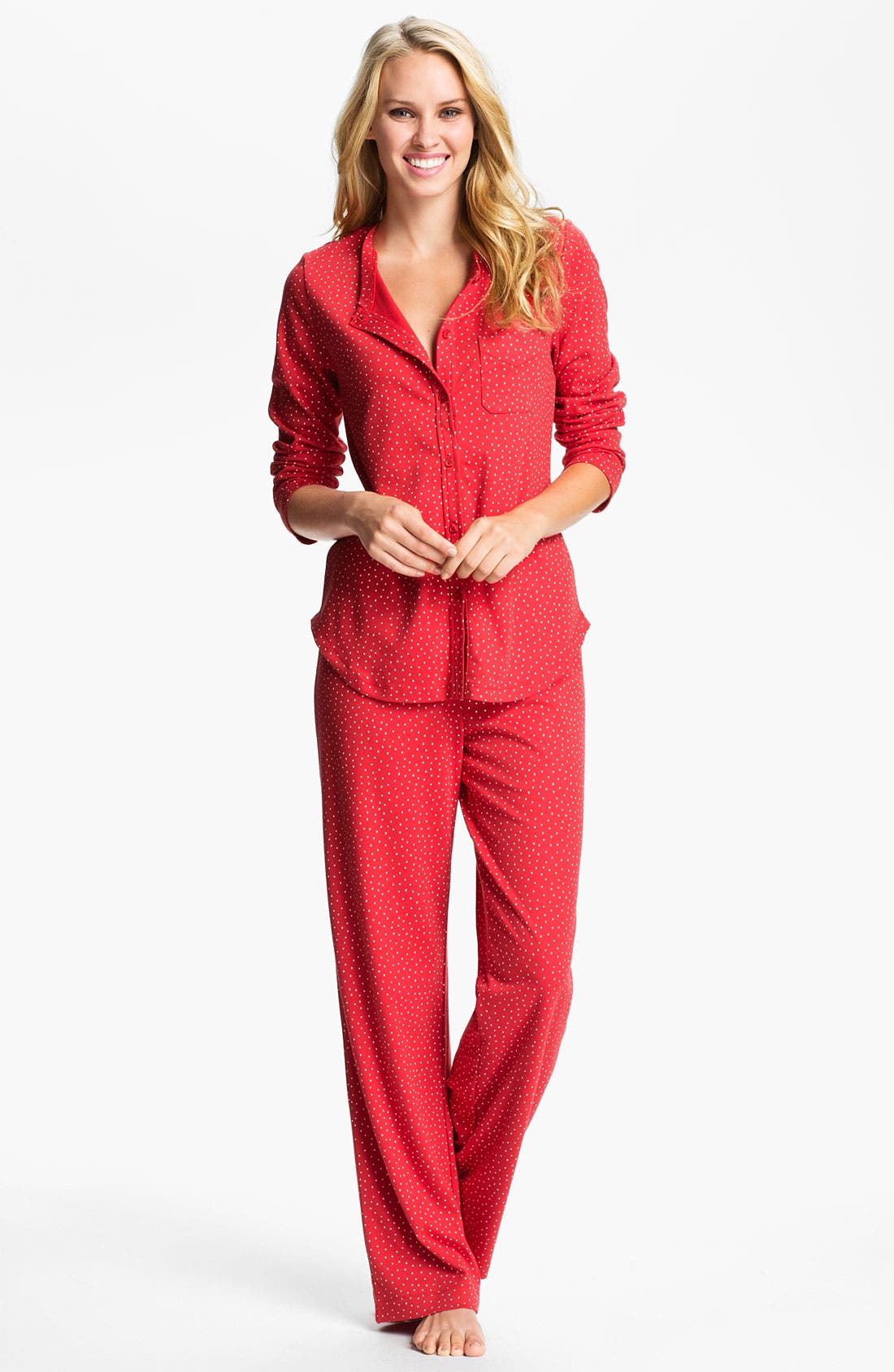Main Image - Carole Hochman Designs Interlock Knit Pajamas