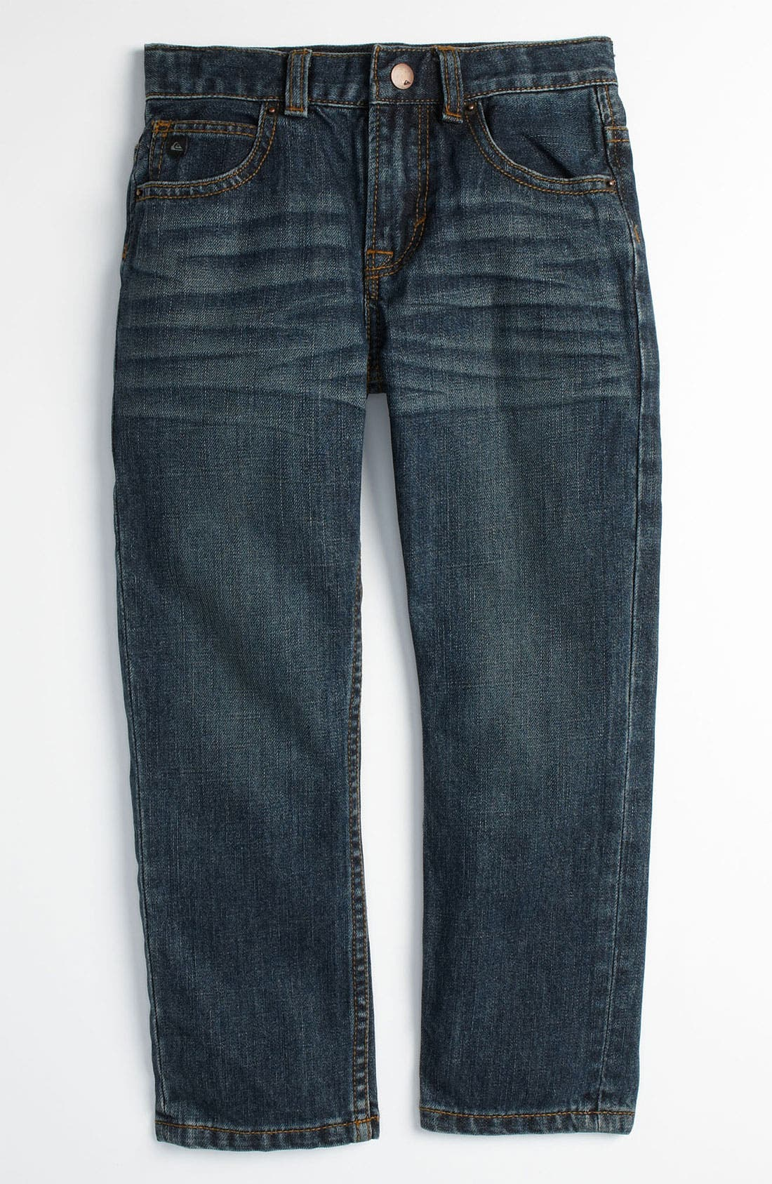 Alternate Image 2  - Quiksilver 'Distortion' Slim Straight Leg Jeans (Little Boys)