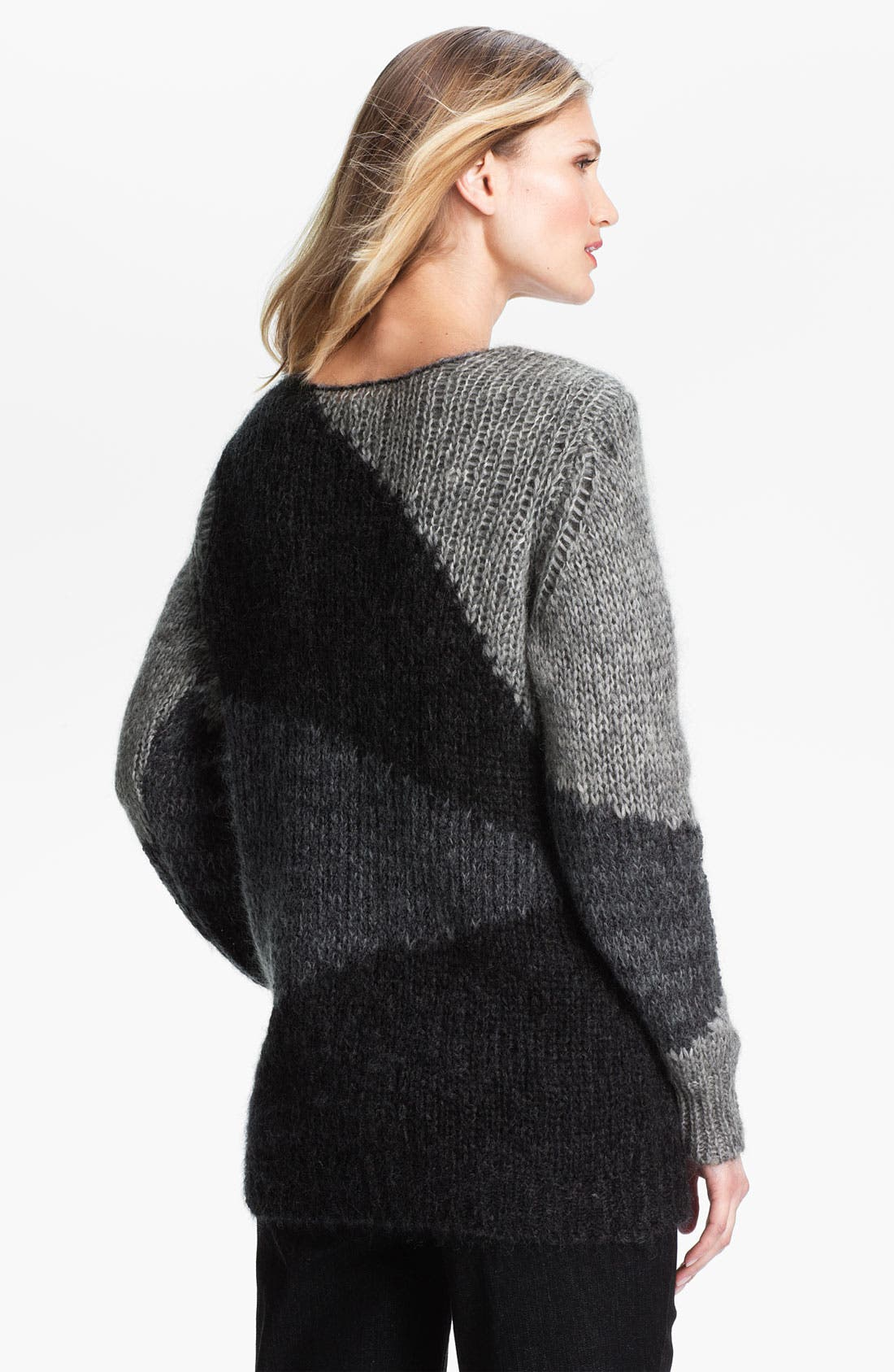 Alternate Image 2  - Eileen Fisher Colorblock Mohair Blend Tunic