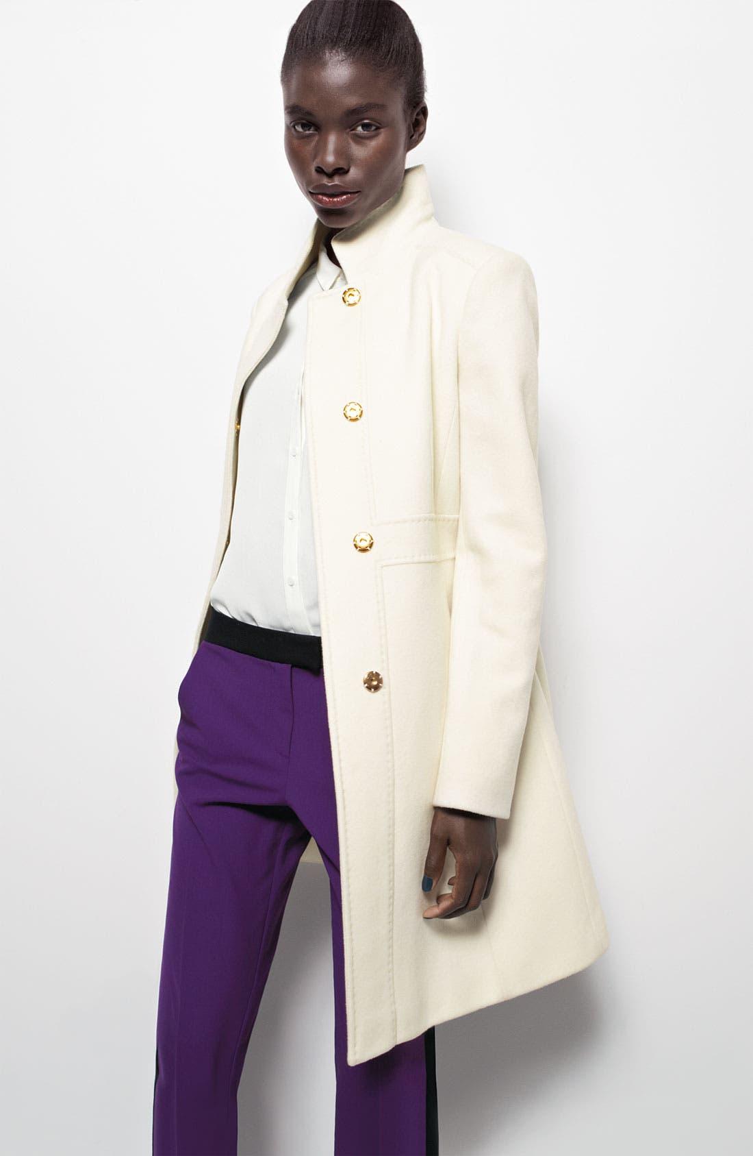 Alternate Image 4  - Via Spiga Stand Collar Walking Coat