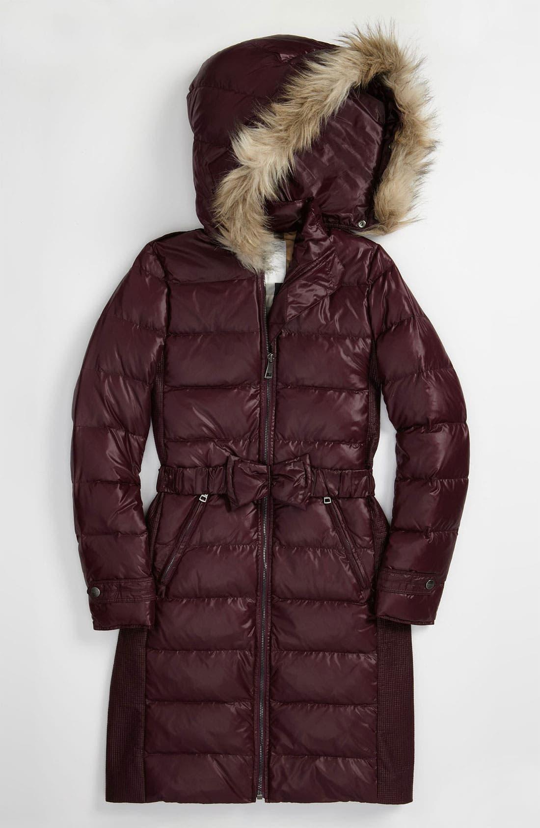 Main Image - Burberry Down Filled Puffer Jacket (Big Girls)
